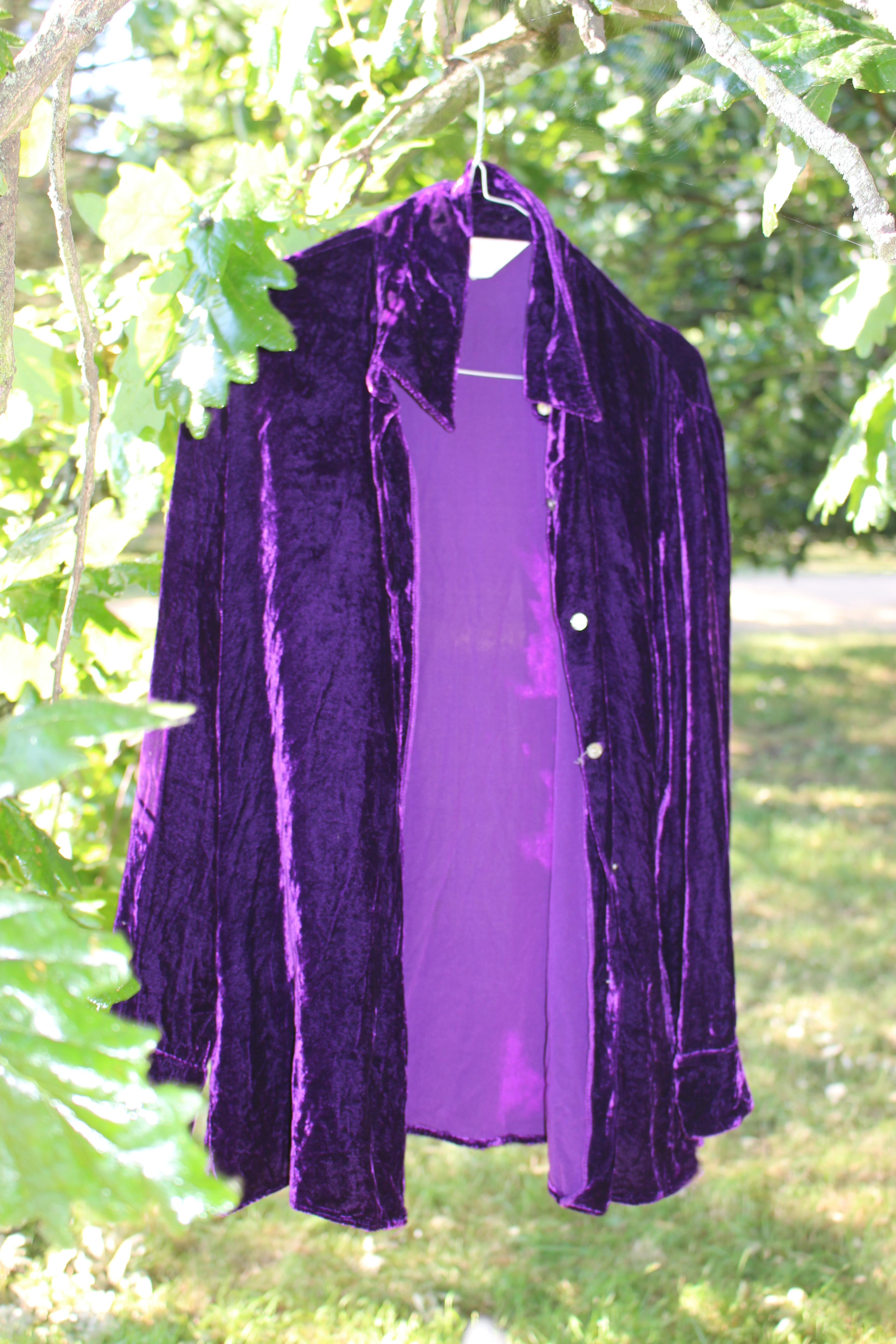 Art of Silk purple velvet top, from Unicorn, 5 Ship Street, Oxford