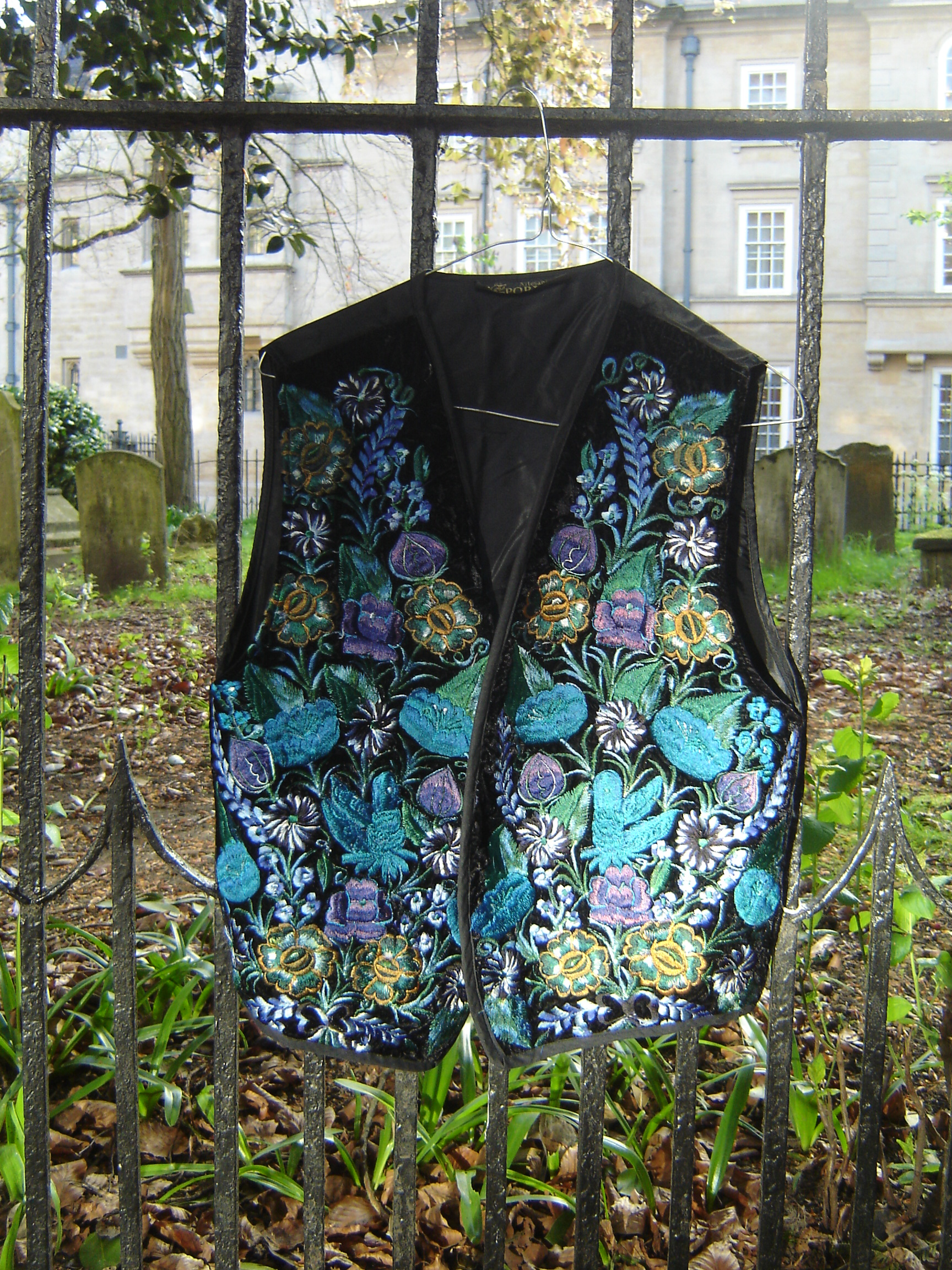 Artesania Pop Wuh embroidered waistcoat, from Unicorn, 5 Ship Street, Oxford