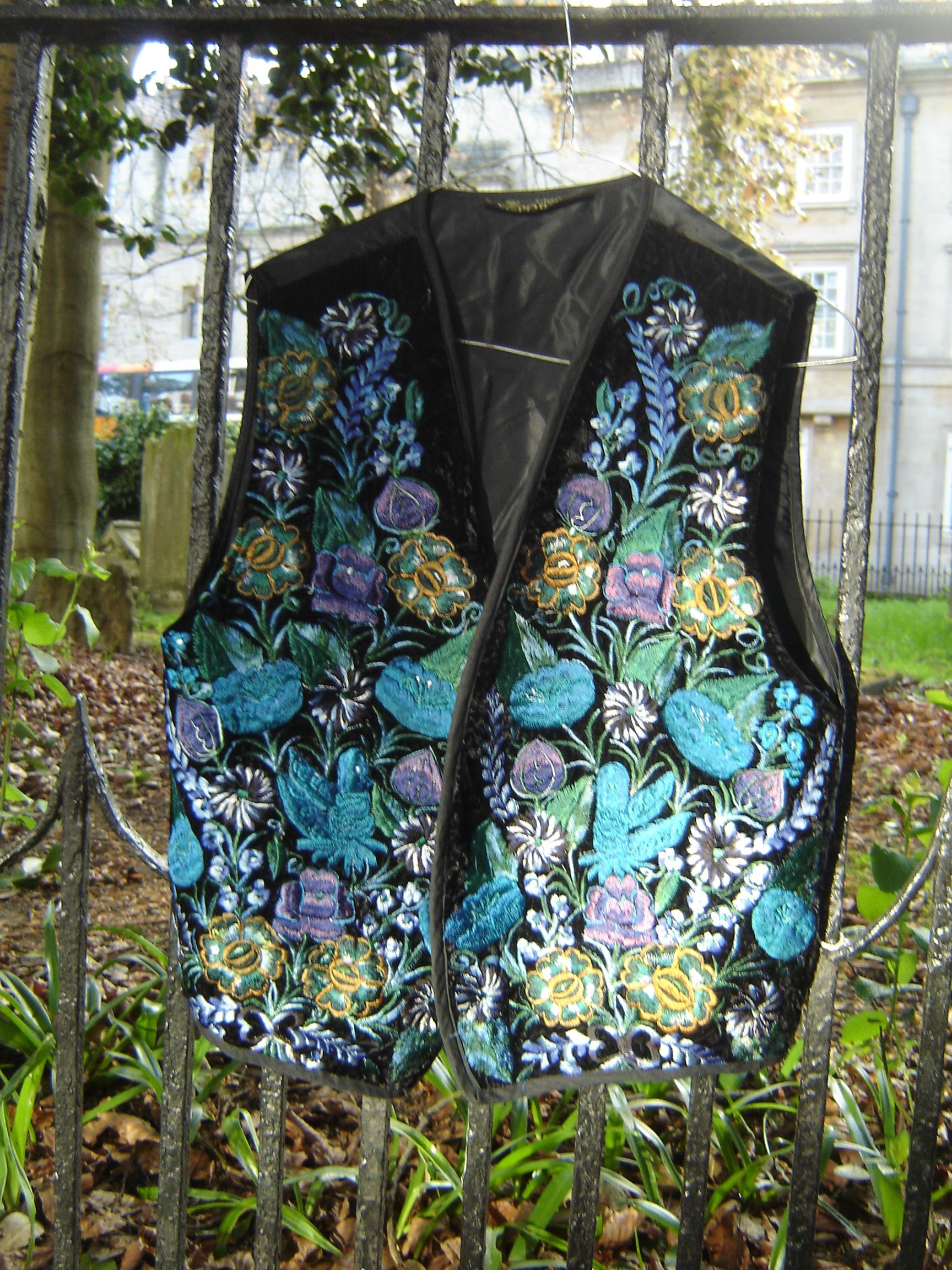 Artesania Pop Wuh embroidered waistcoat, from Unicorn, 5 Ship Street, Oxford