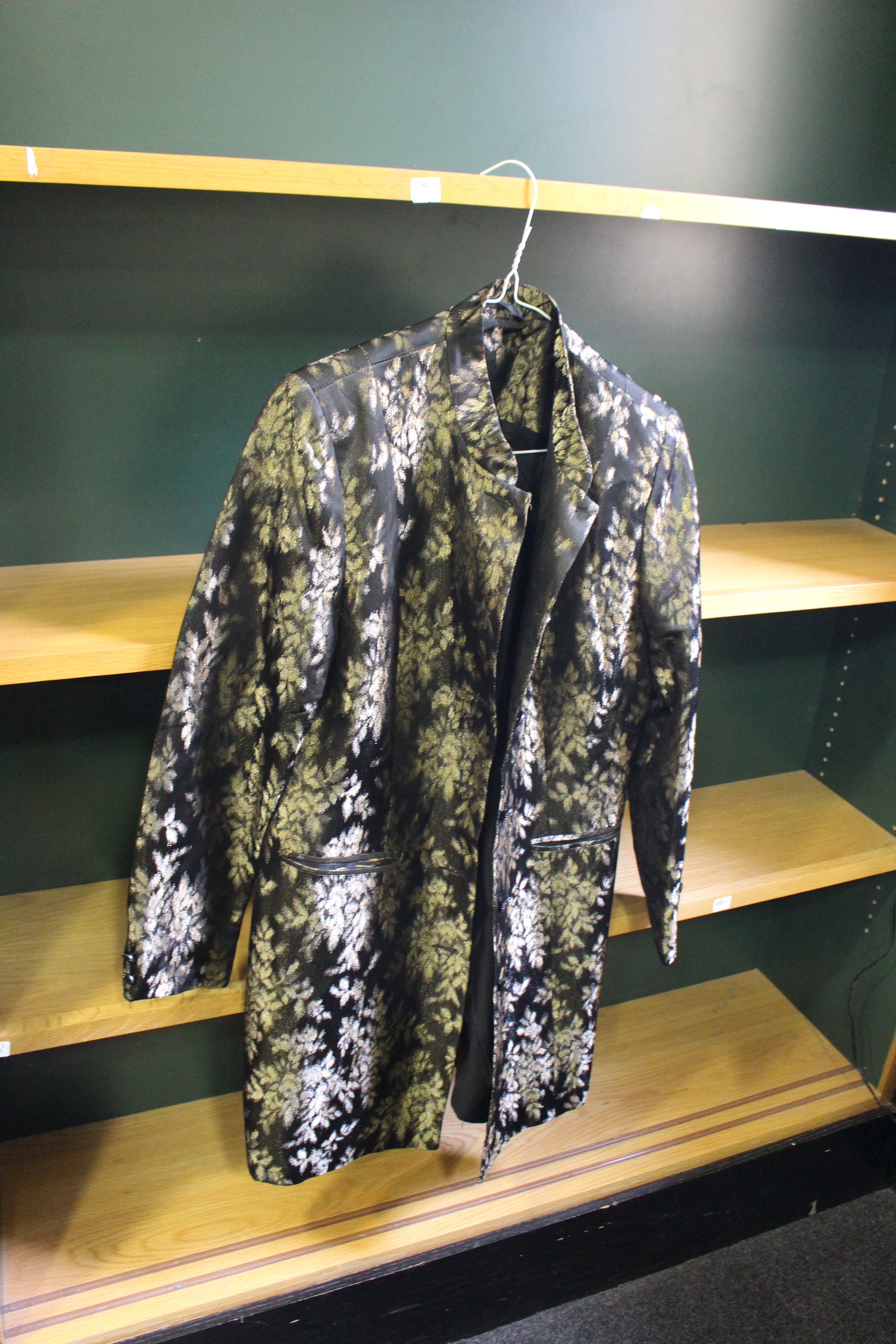 Black and gold brocade jacket, from Unicorn, 5 Ship Street, Oxford