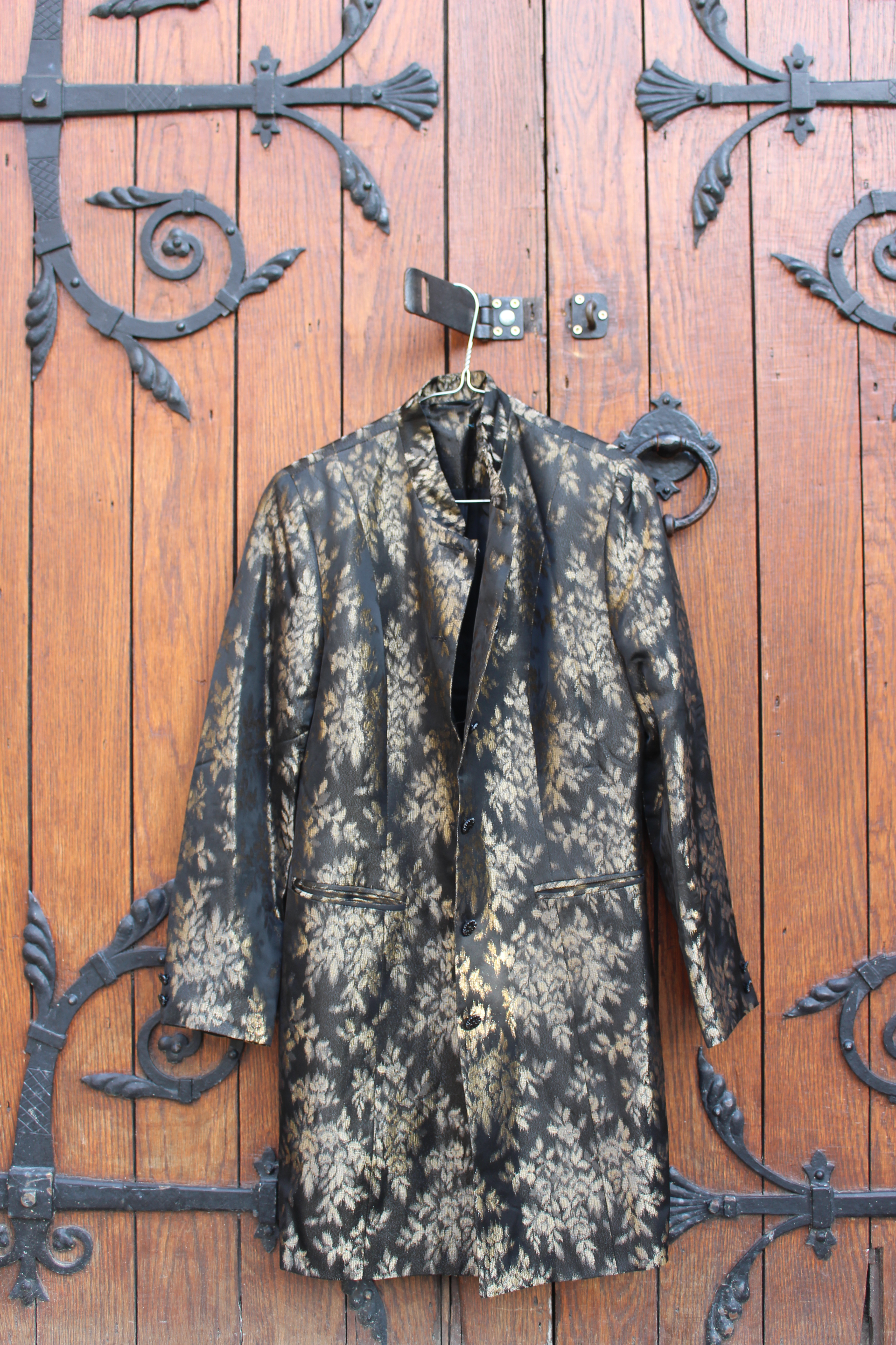 Black and gold brocade jacket