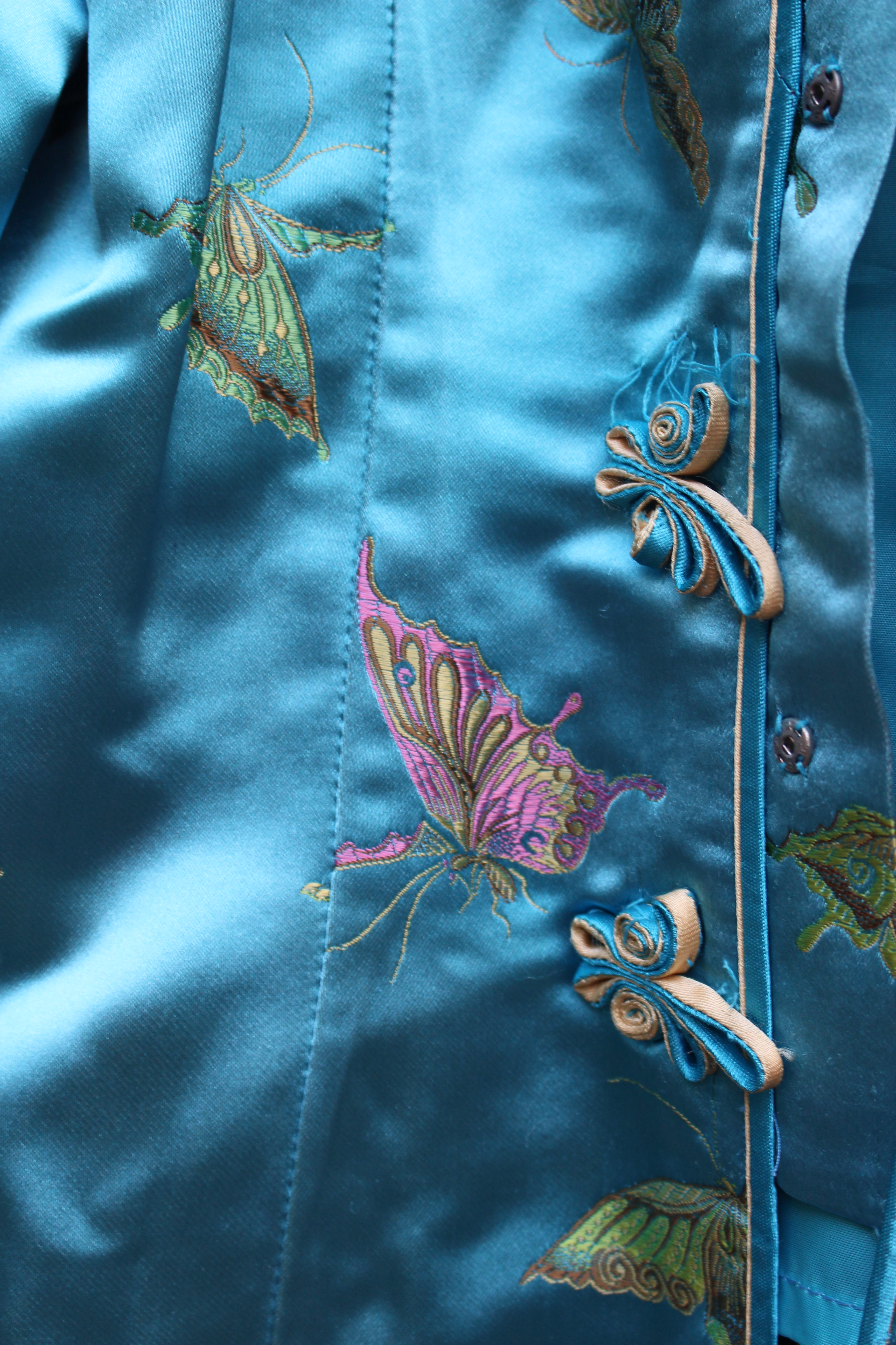 Blue Chinese silk butterfly top, from Unicorn, 5 Ship Street, Oxford