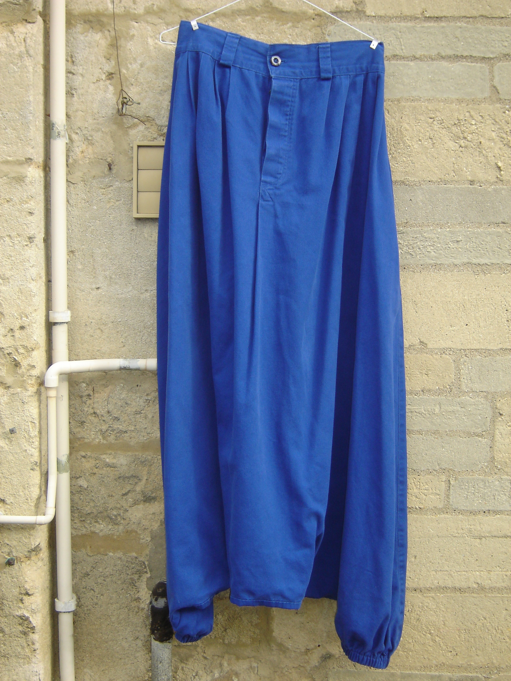 Blue heavy cotton sarouel, from Fez, 71 Golborne Road, London