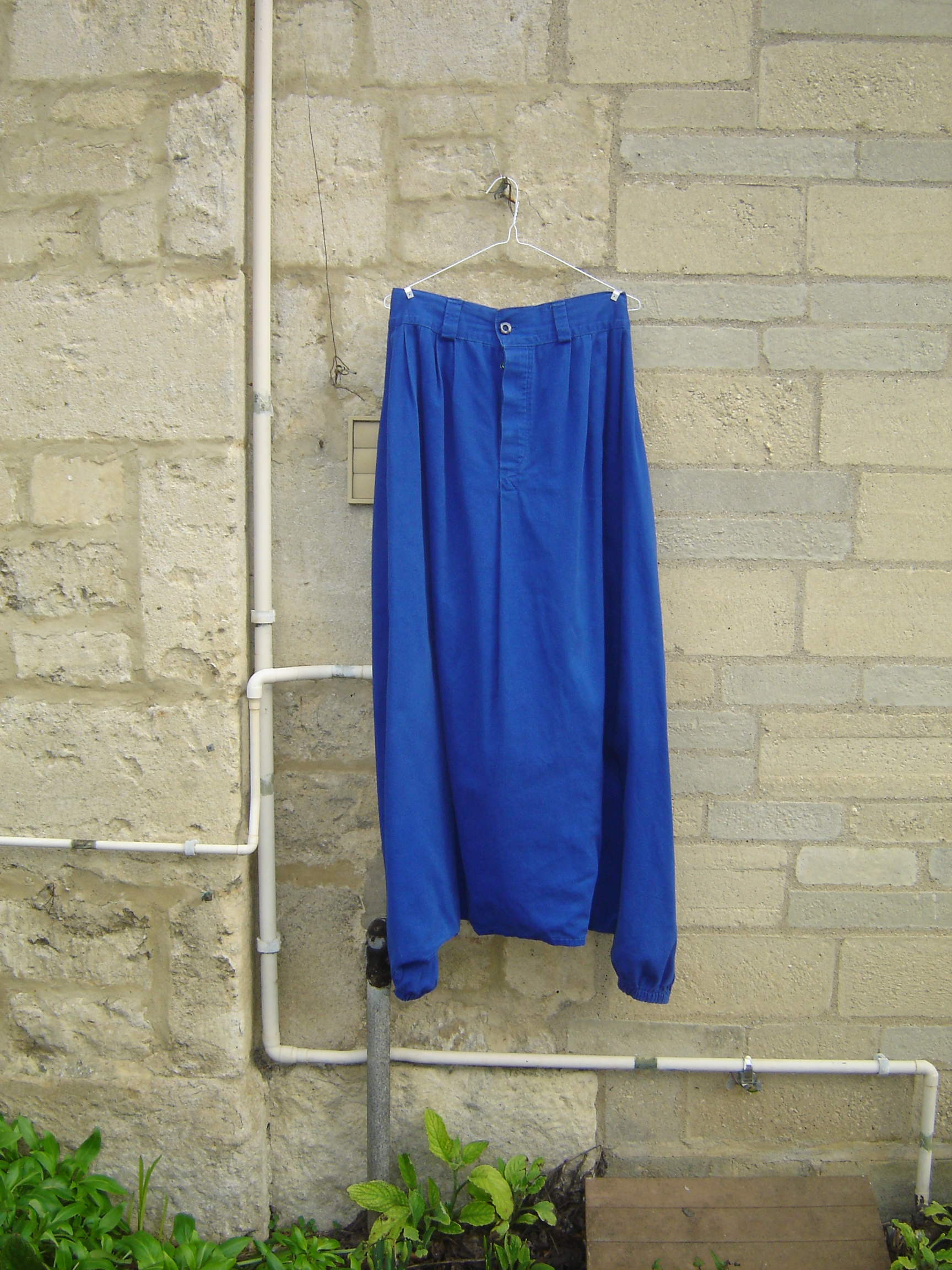 Blue heavy cotton sarouel
