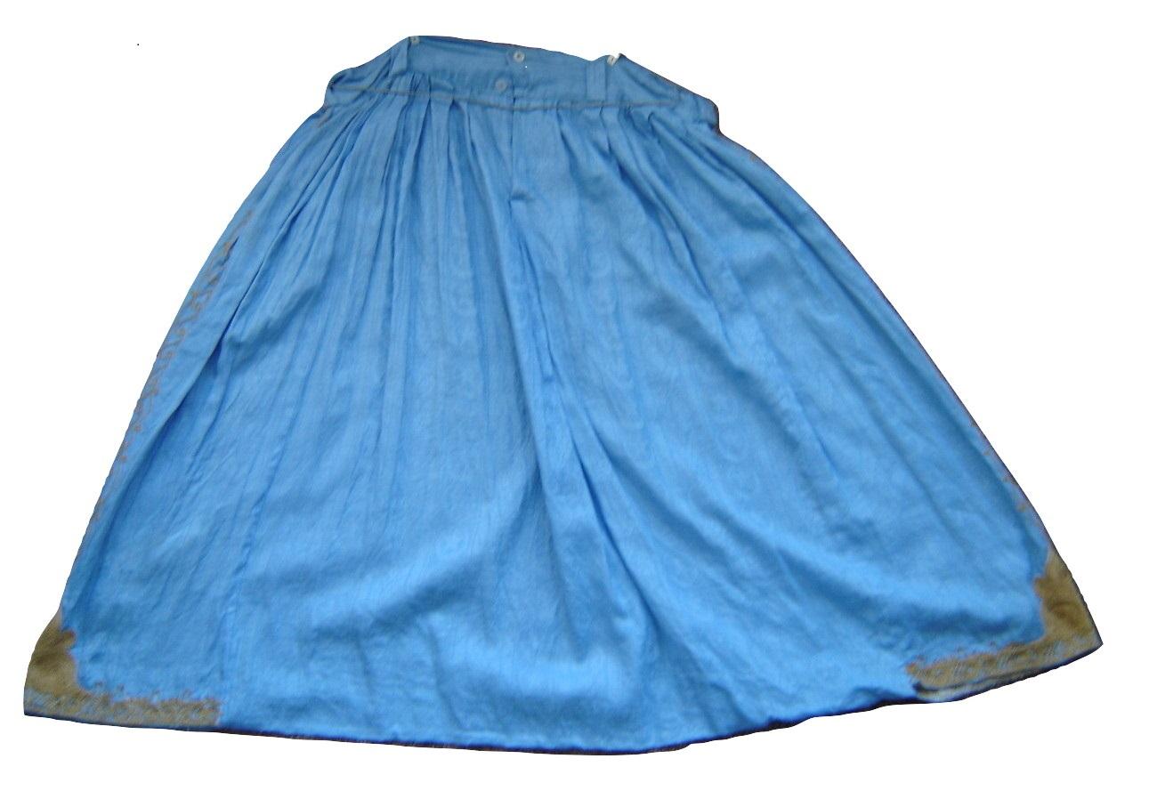 Blue Moroccan qandrissi shorts