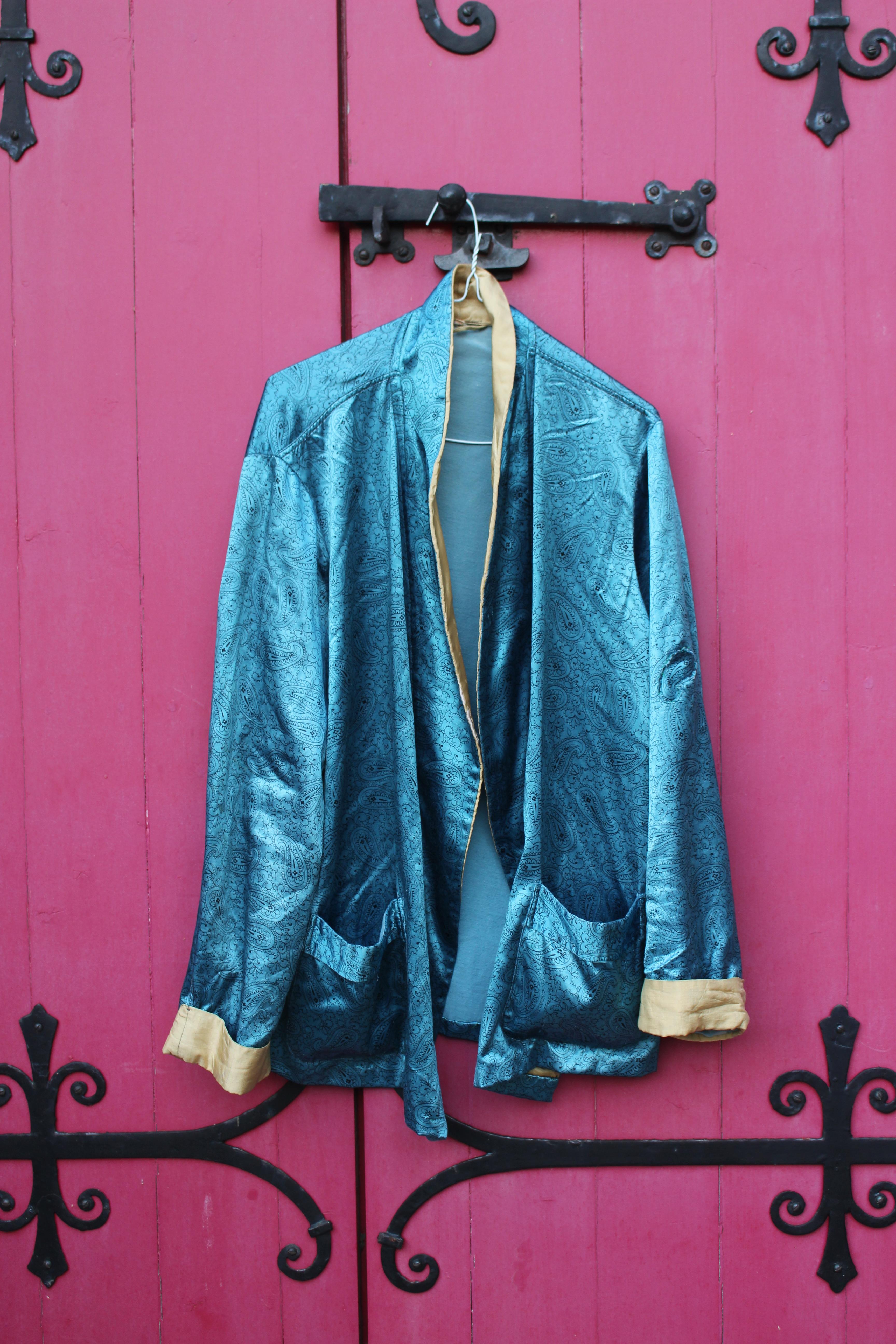 Blue paisley kimono