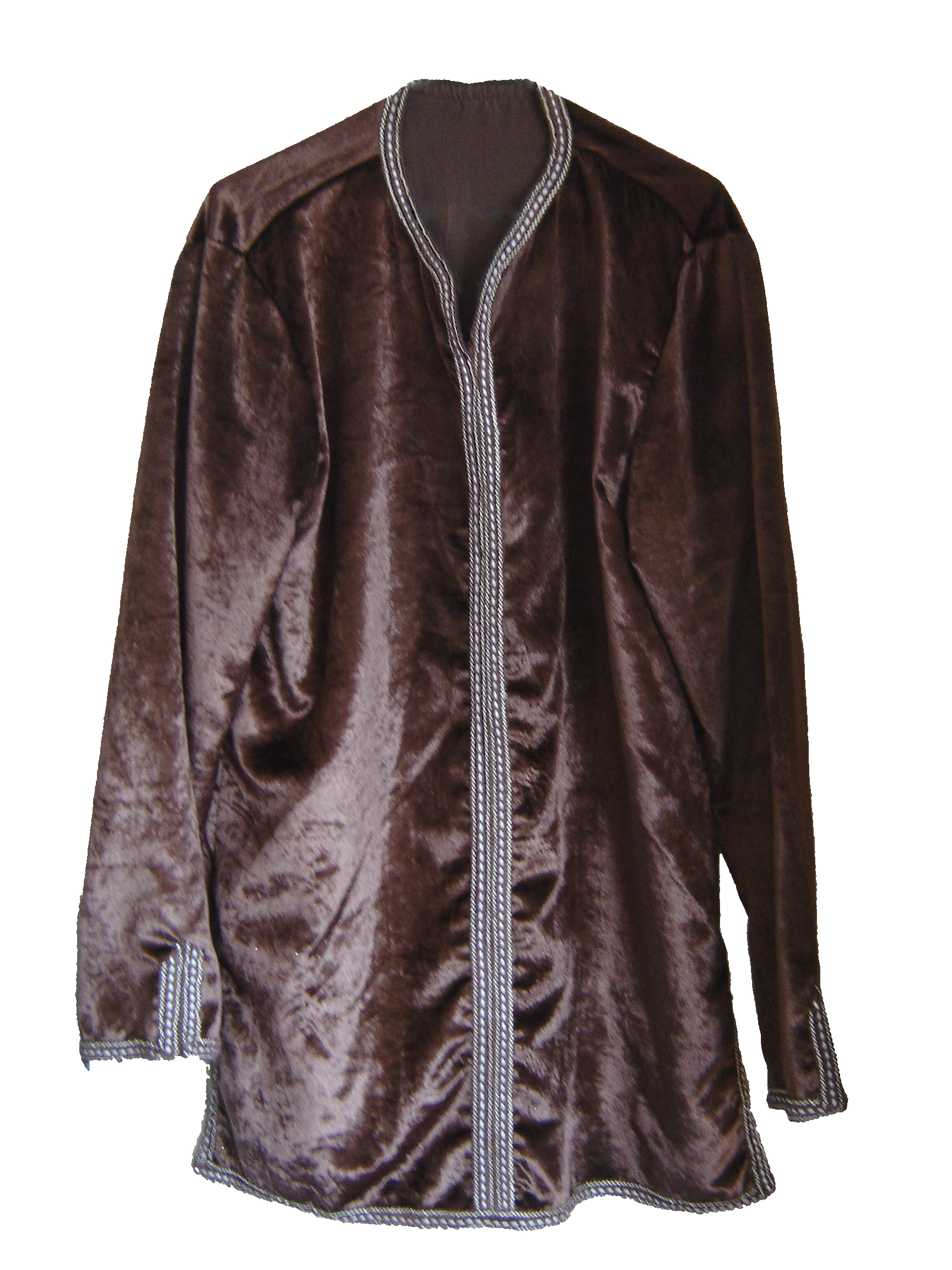Brown velvet Moroccan shirt, from Fez, 71 Golborne Road, London