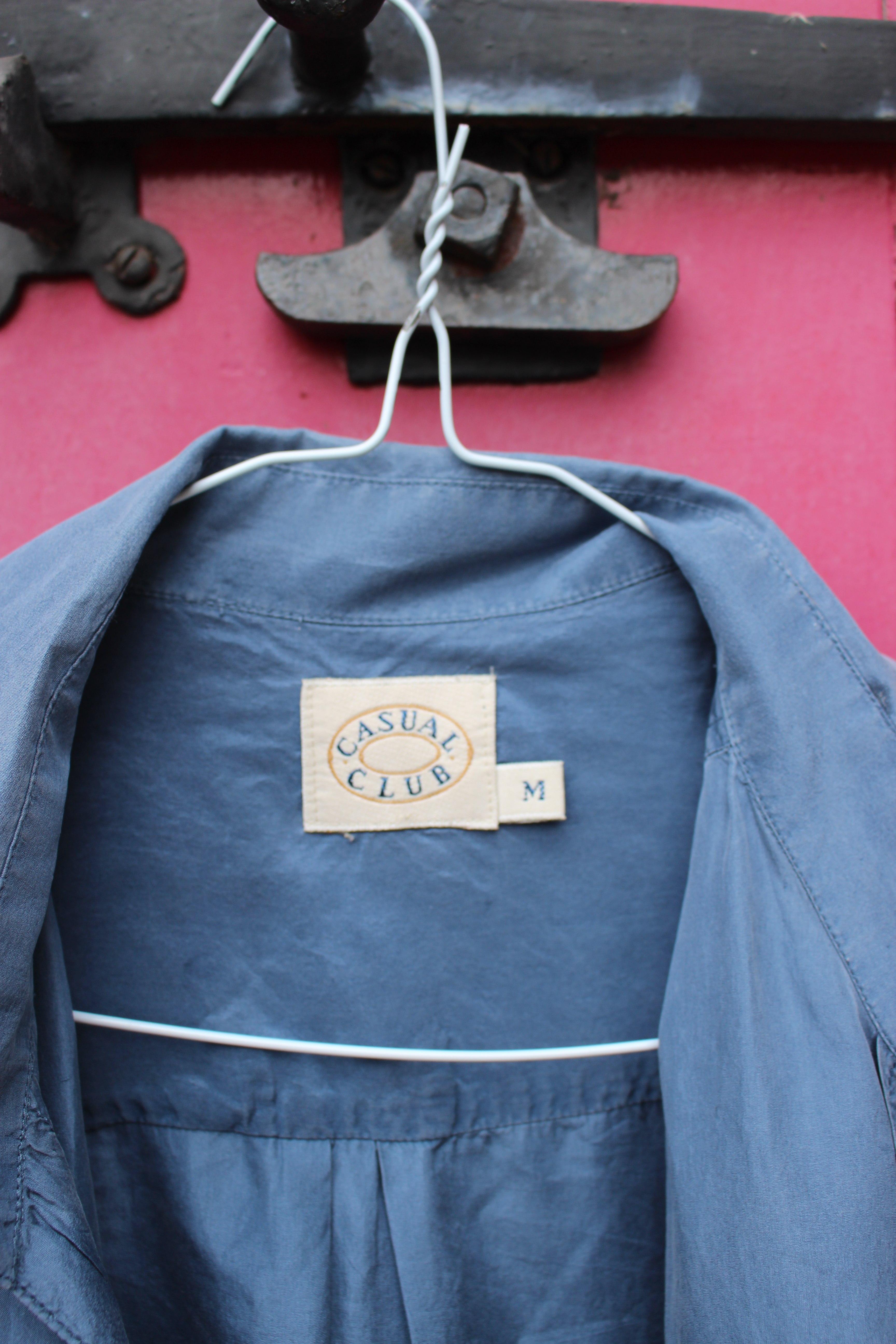 Casual Club grey short-sleeved silk shirt, from Unicorn, 5 Ship Street, Oxford