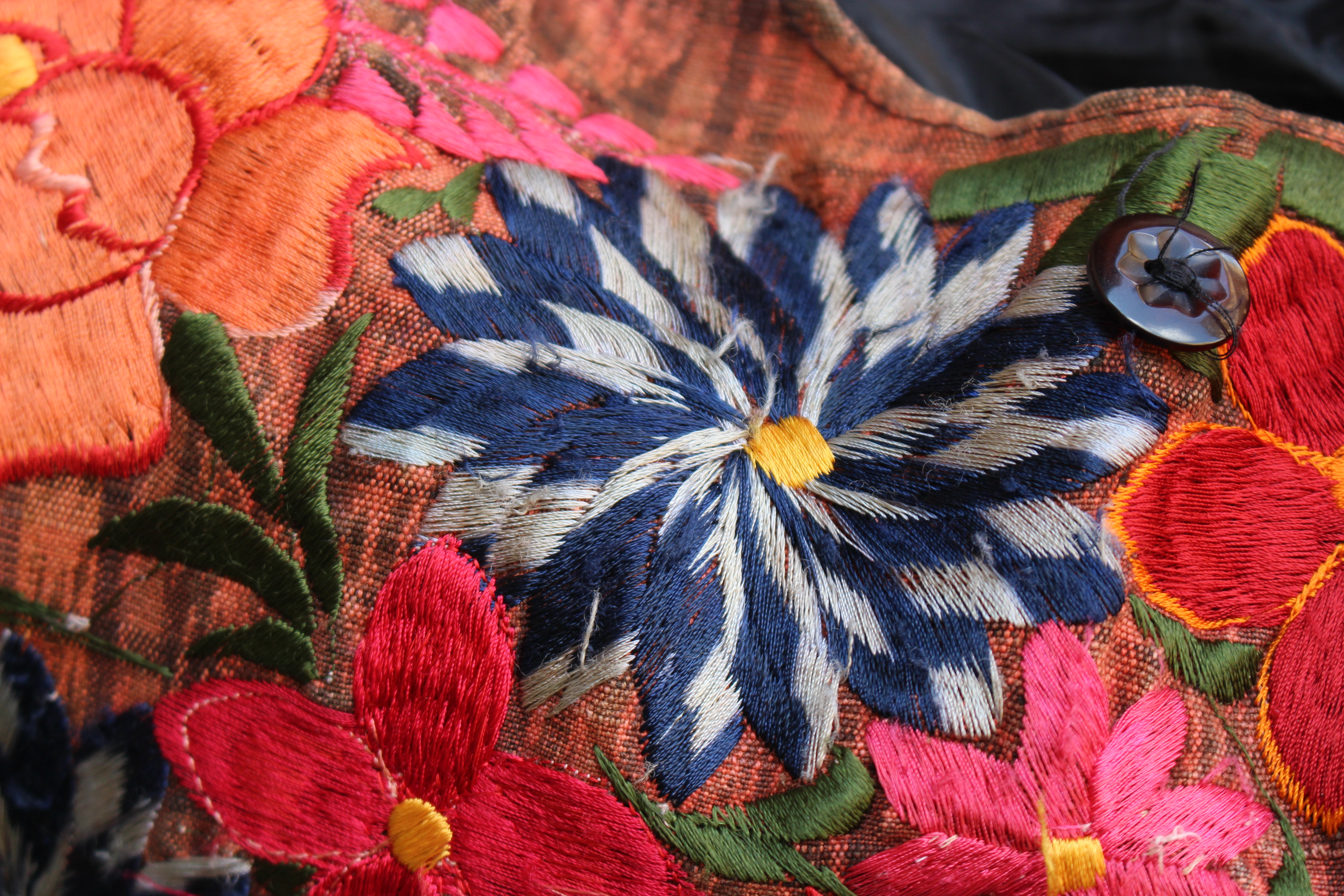 Embroidered Indian bag.