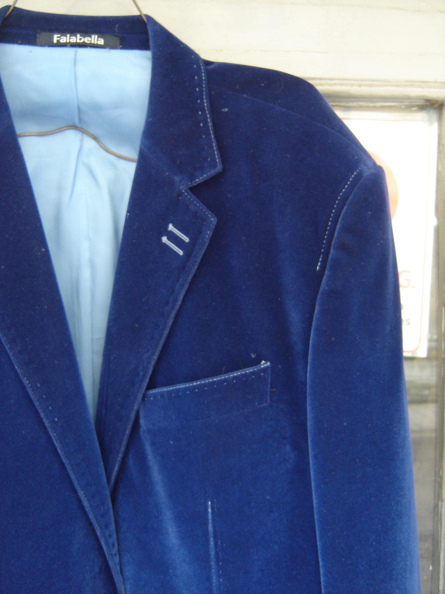 Falabella indigo velvet jacket