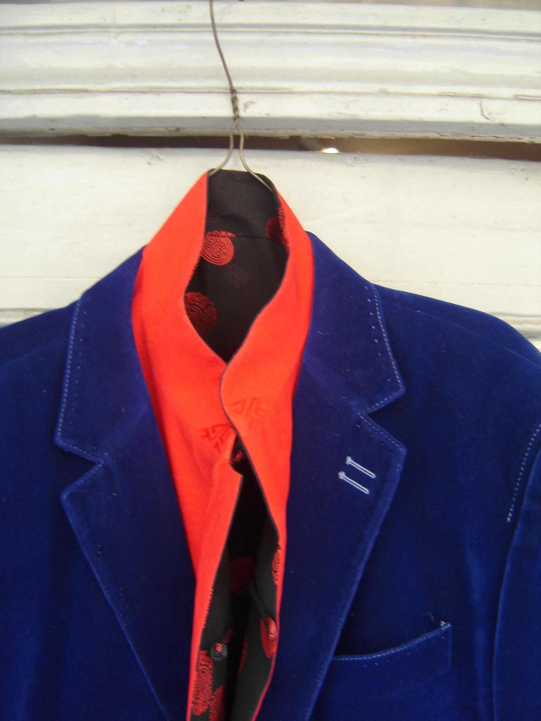 Falabella indigo velvet jacket, from Unicorn, 5 Ship Street, Oxford