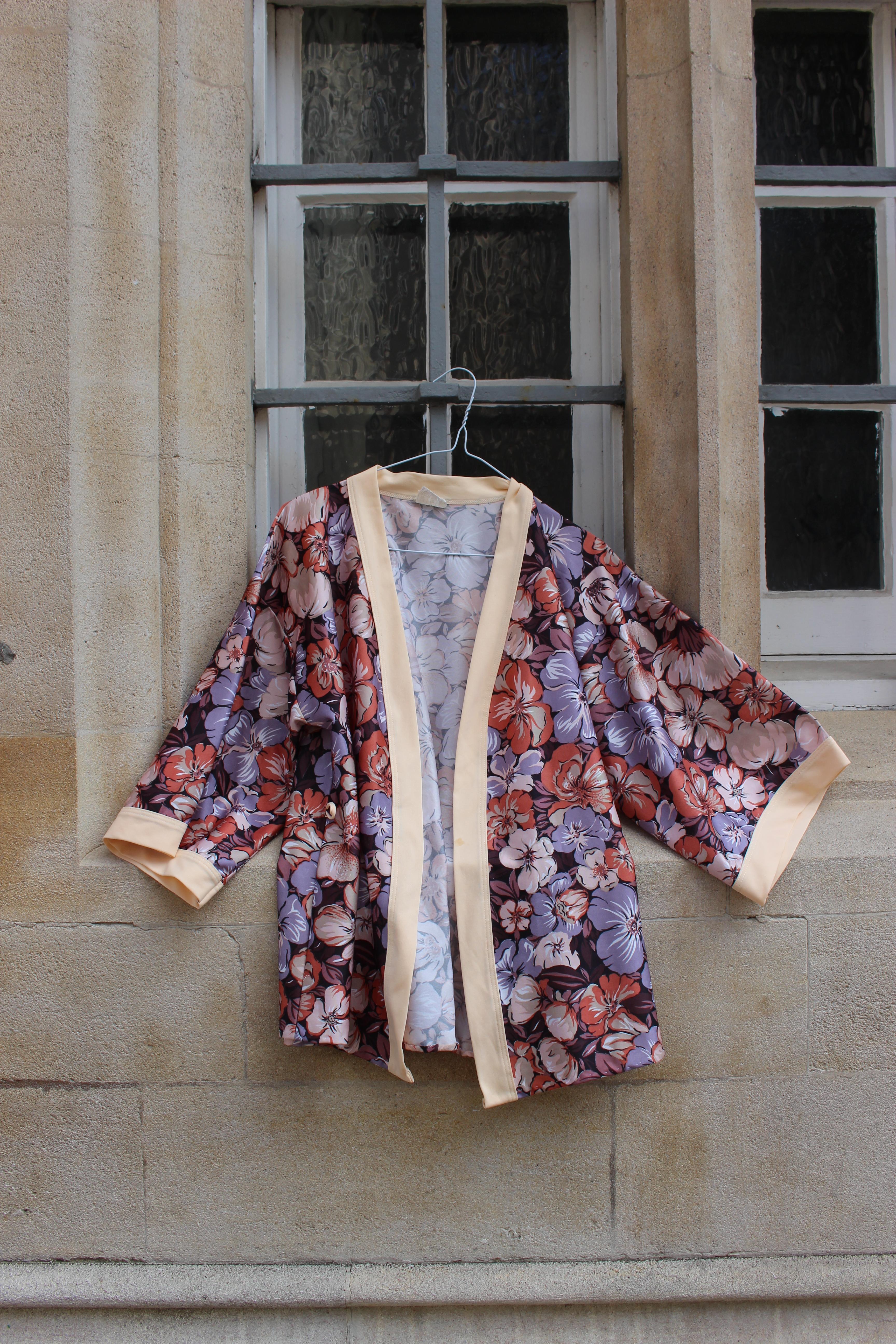 Flowered earth toned kimono top, from Unicorn, 5 Ship Street, Oxford