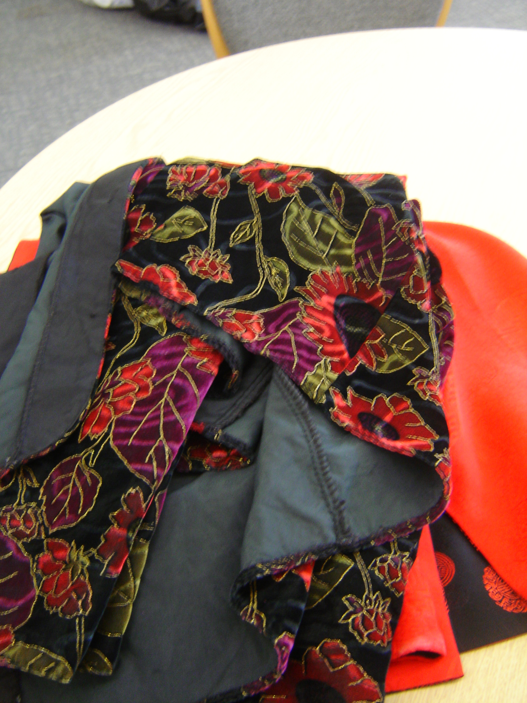 Fosby velvet multi-coloured jacket