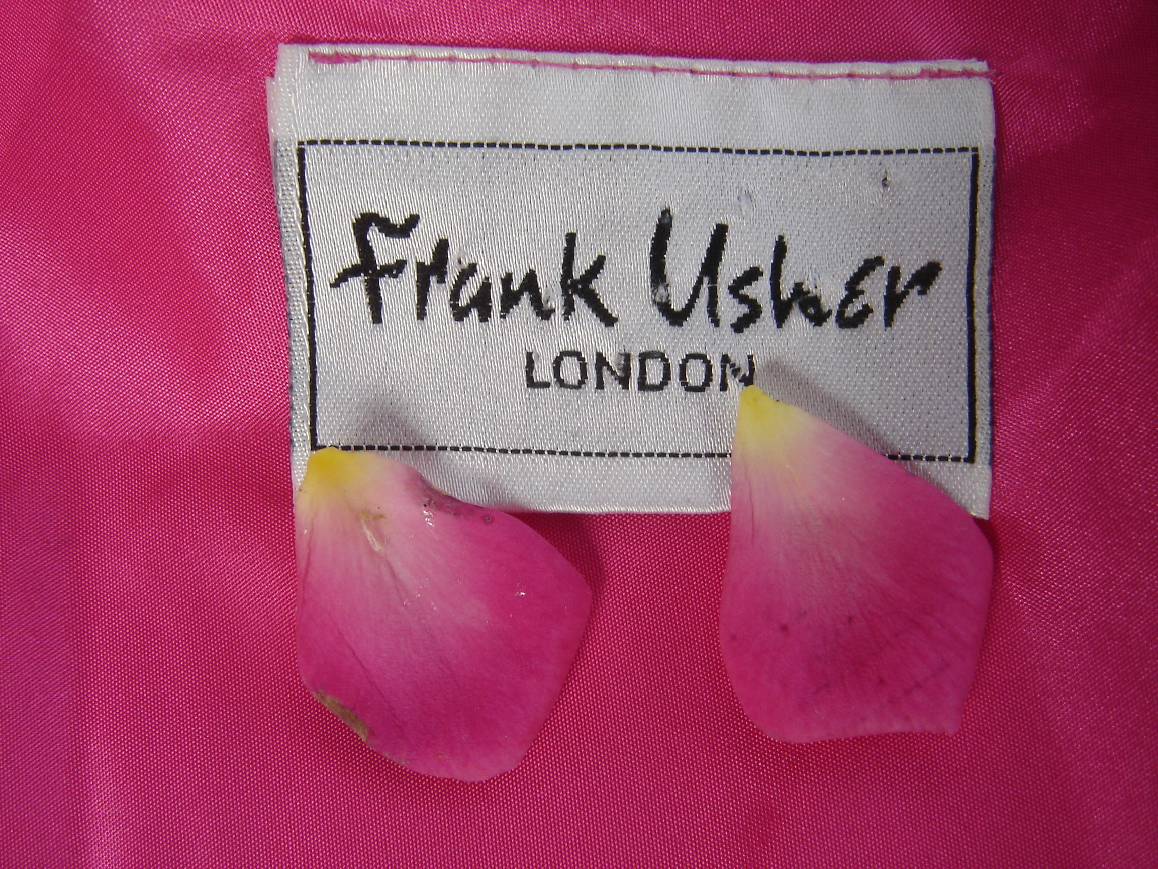 Frank Usher pink silk top