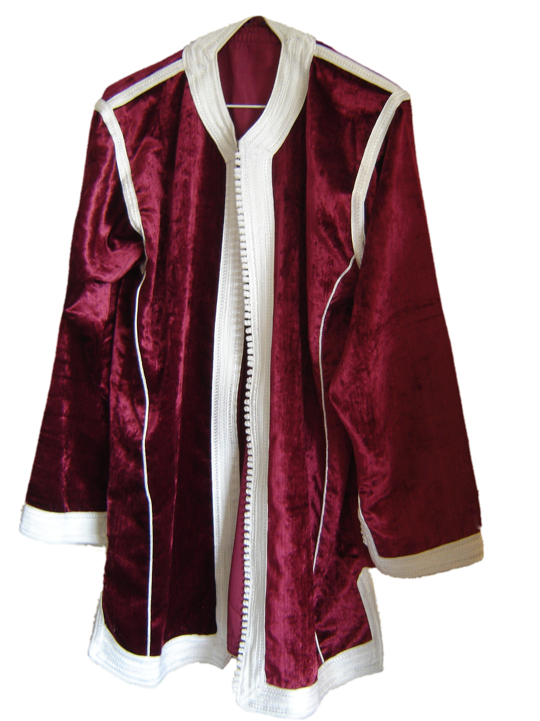 Garnet velvet Moroccan shirt, from Fez, 71 Golborne Road, London