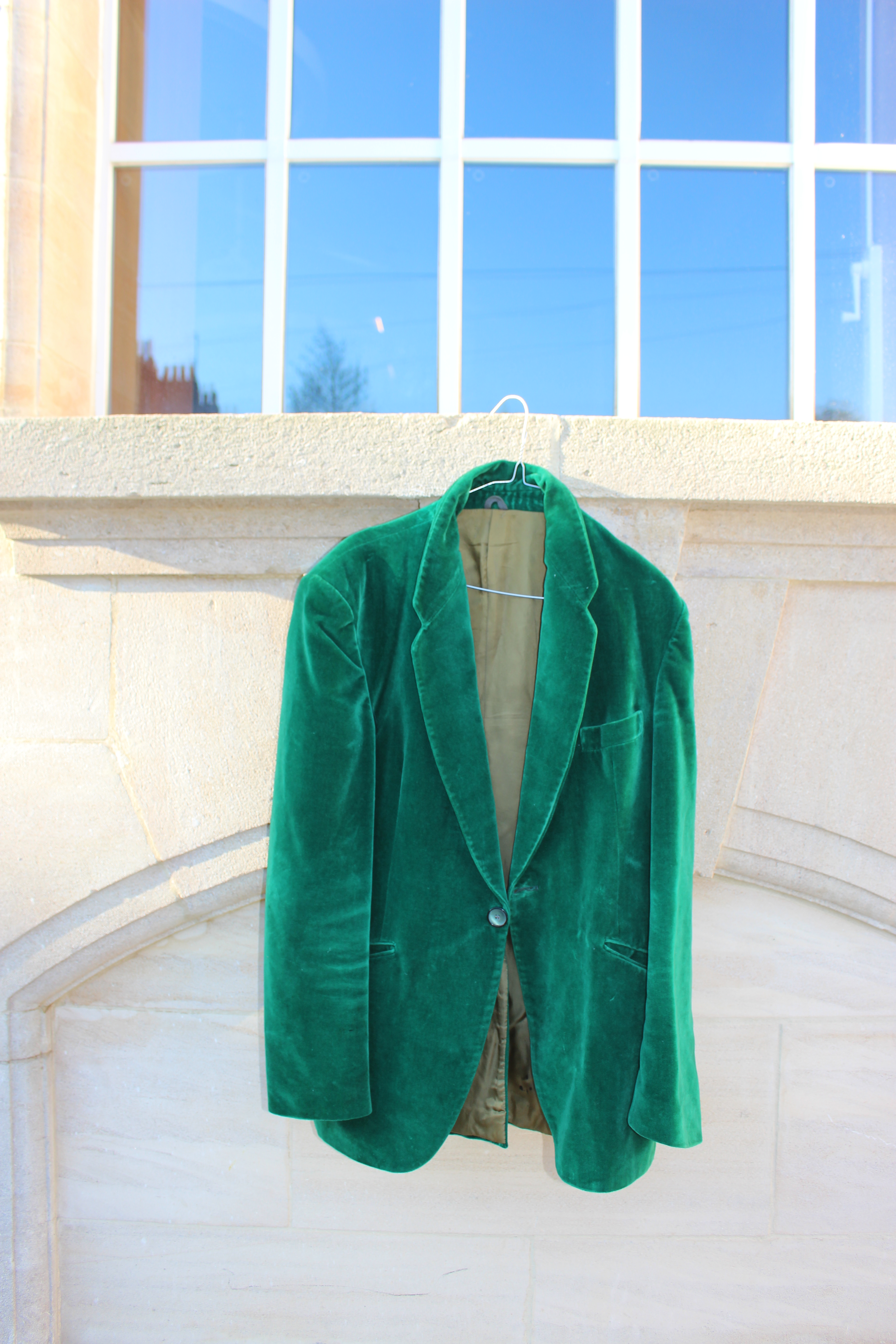 His Lordship green velvet jacket