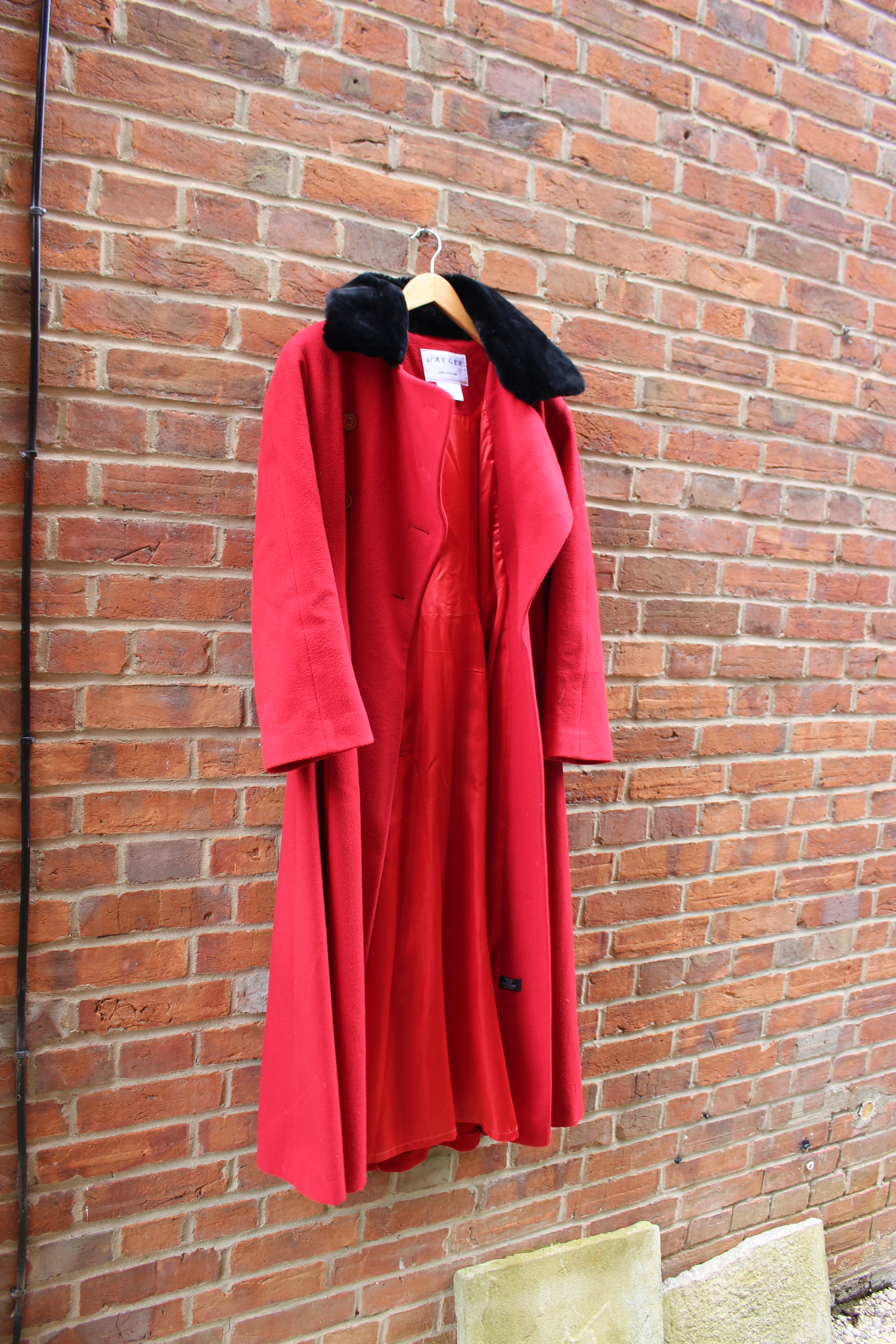 Jaeger red coat, from Unicorn, 5 Ship Street, Oxford