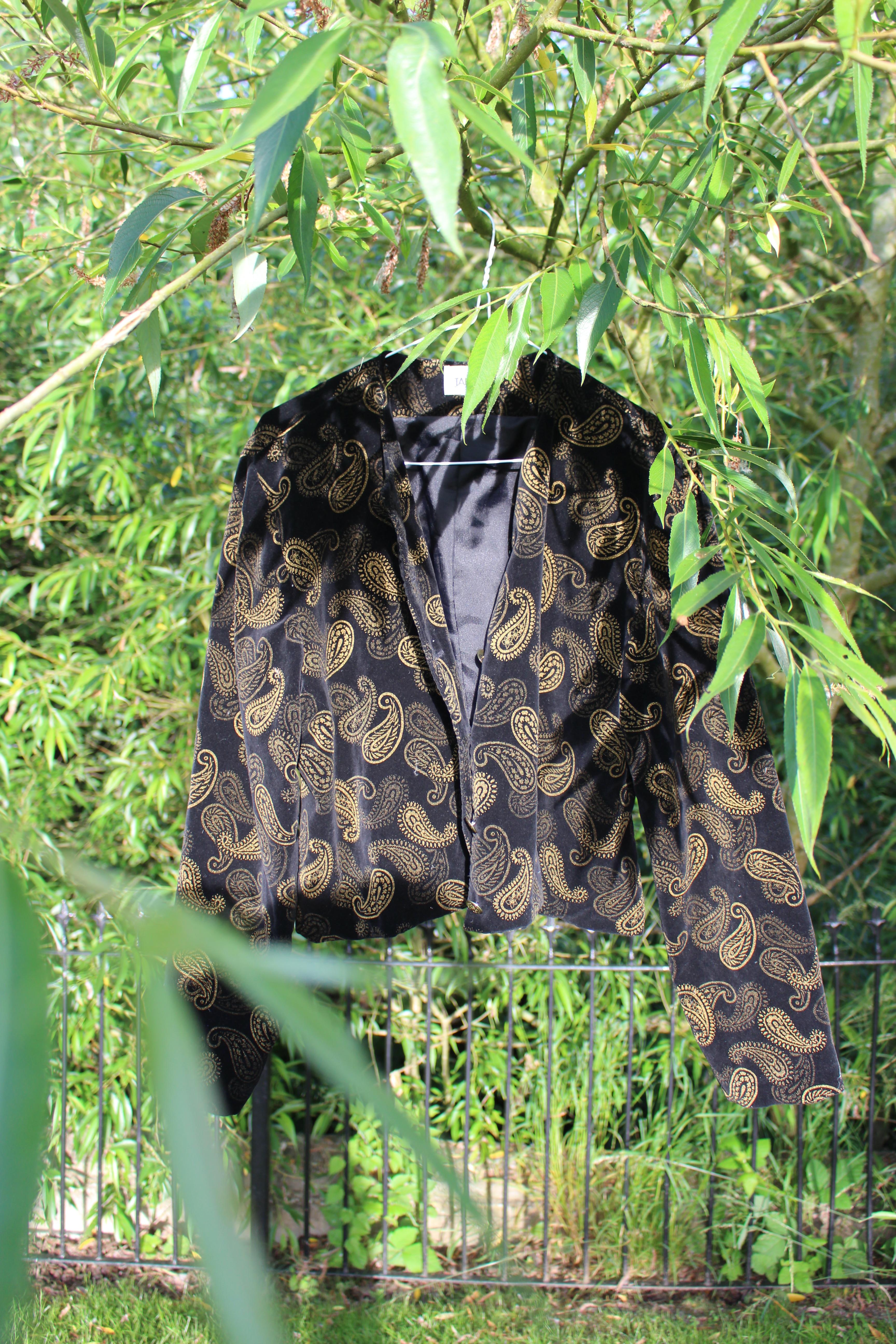 Jake cropped velvet paisley jacket, from Unicorn, 5 Ship Street, Oxford