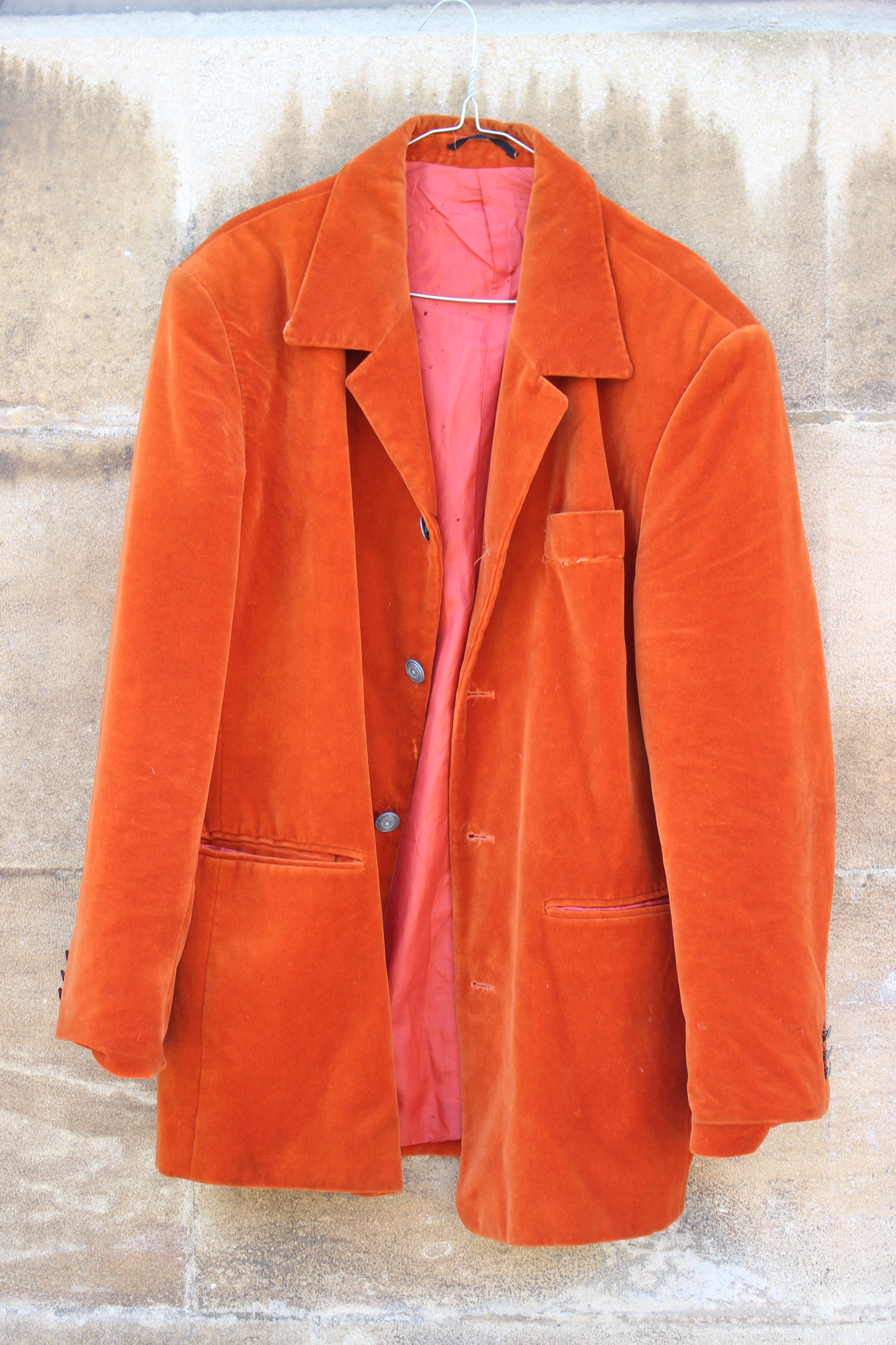 Klaus Rheiner orange velvet jacket