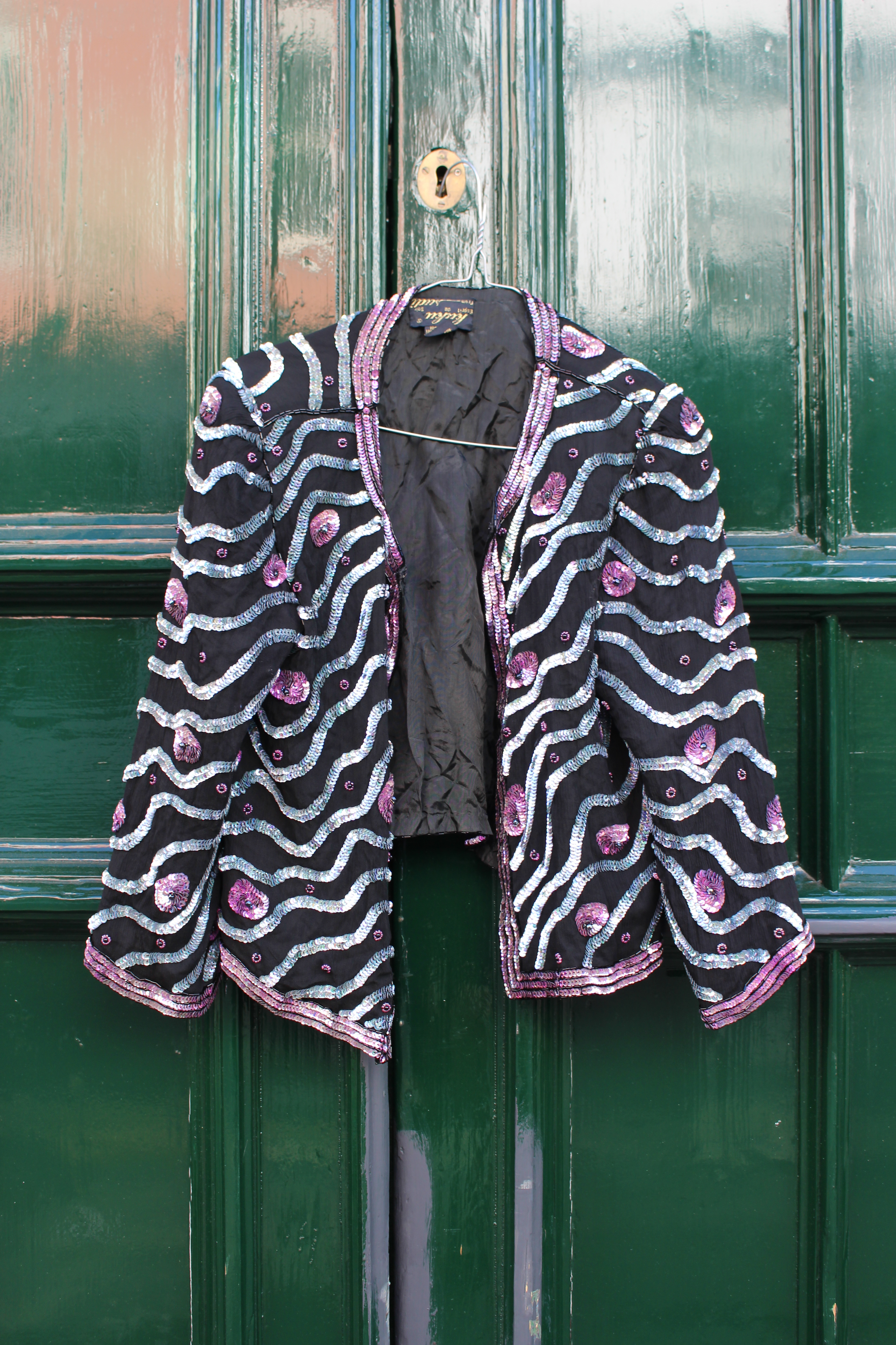 Kuku silver stripe bolero jacket, from Unicorn, 5 Ship Street, Oxford