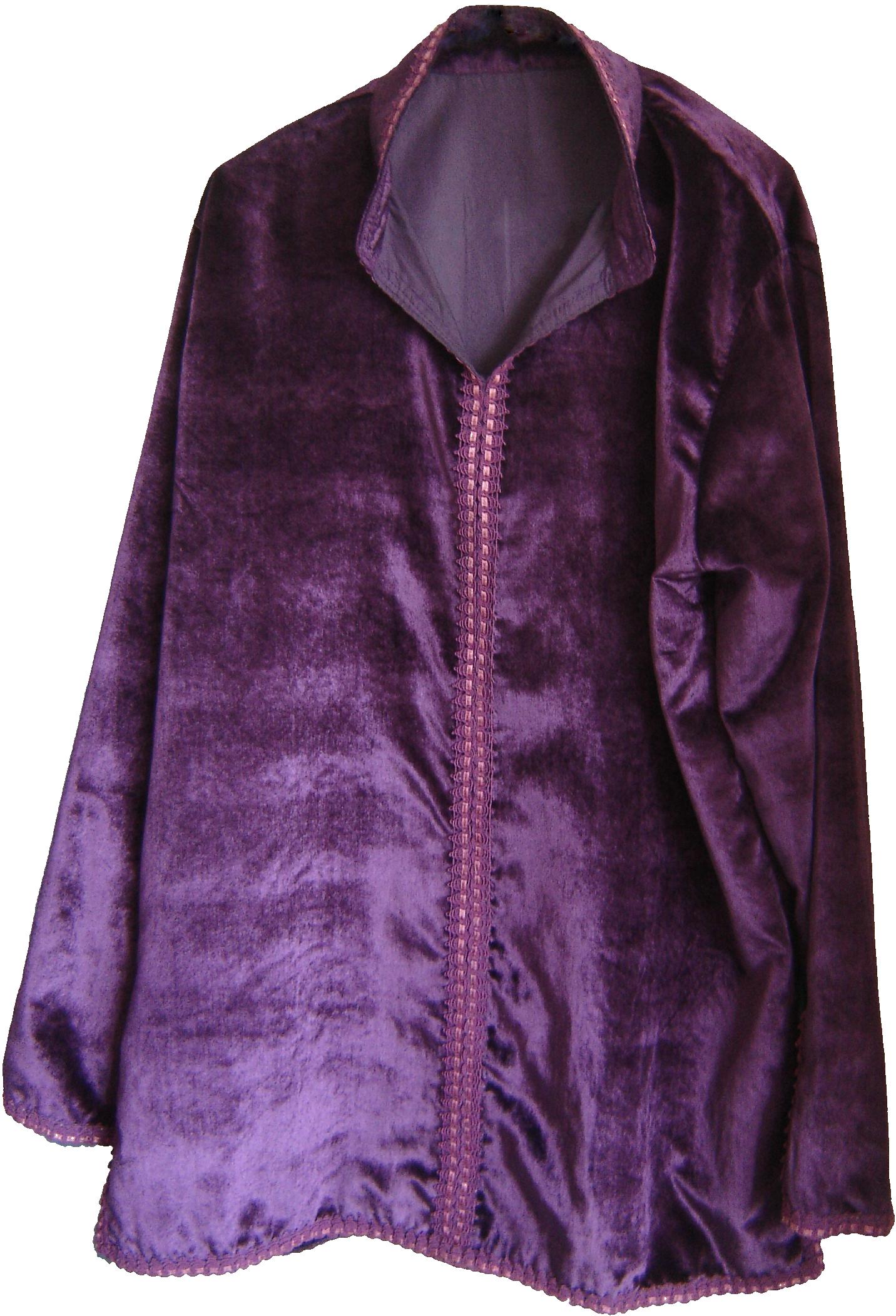 Plum velvet Moroccan shirt, from Fez, 71 Golborne Road, London