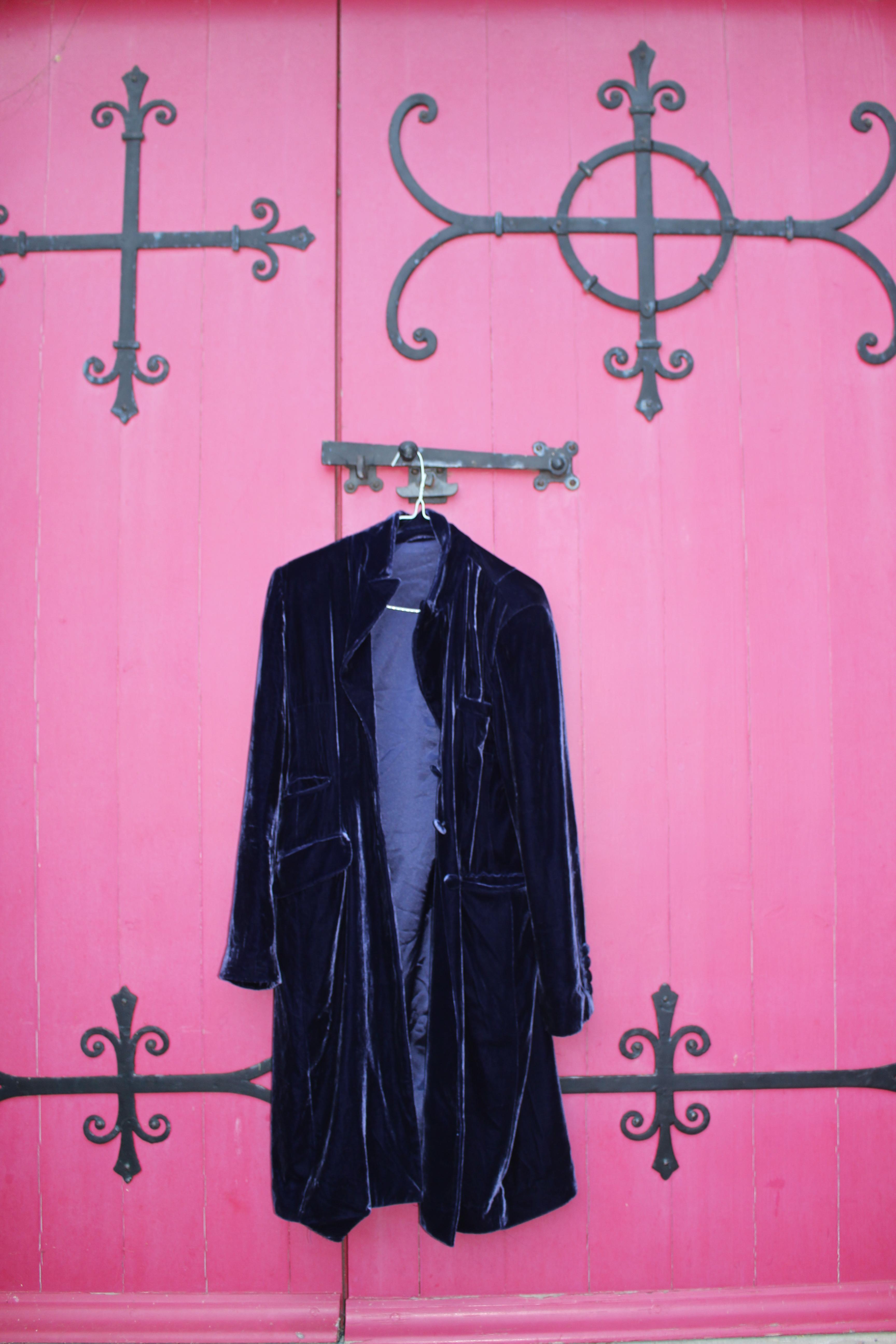 Purple velvet coat, from Unicorn, 5 Ship Street, Oxford