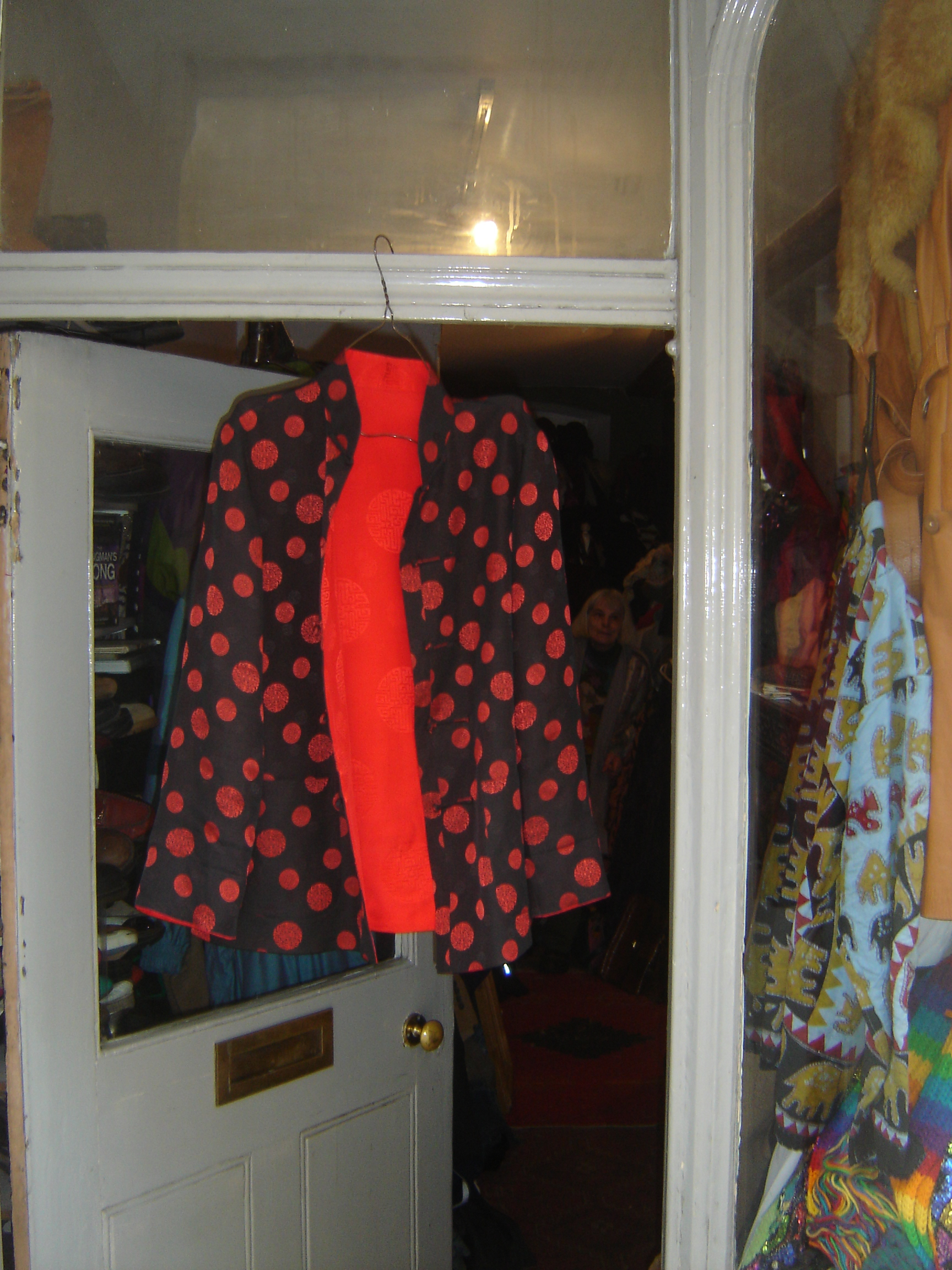 Red silk Chinese top, from Unicorn, 5 Ship Street, Oxford