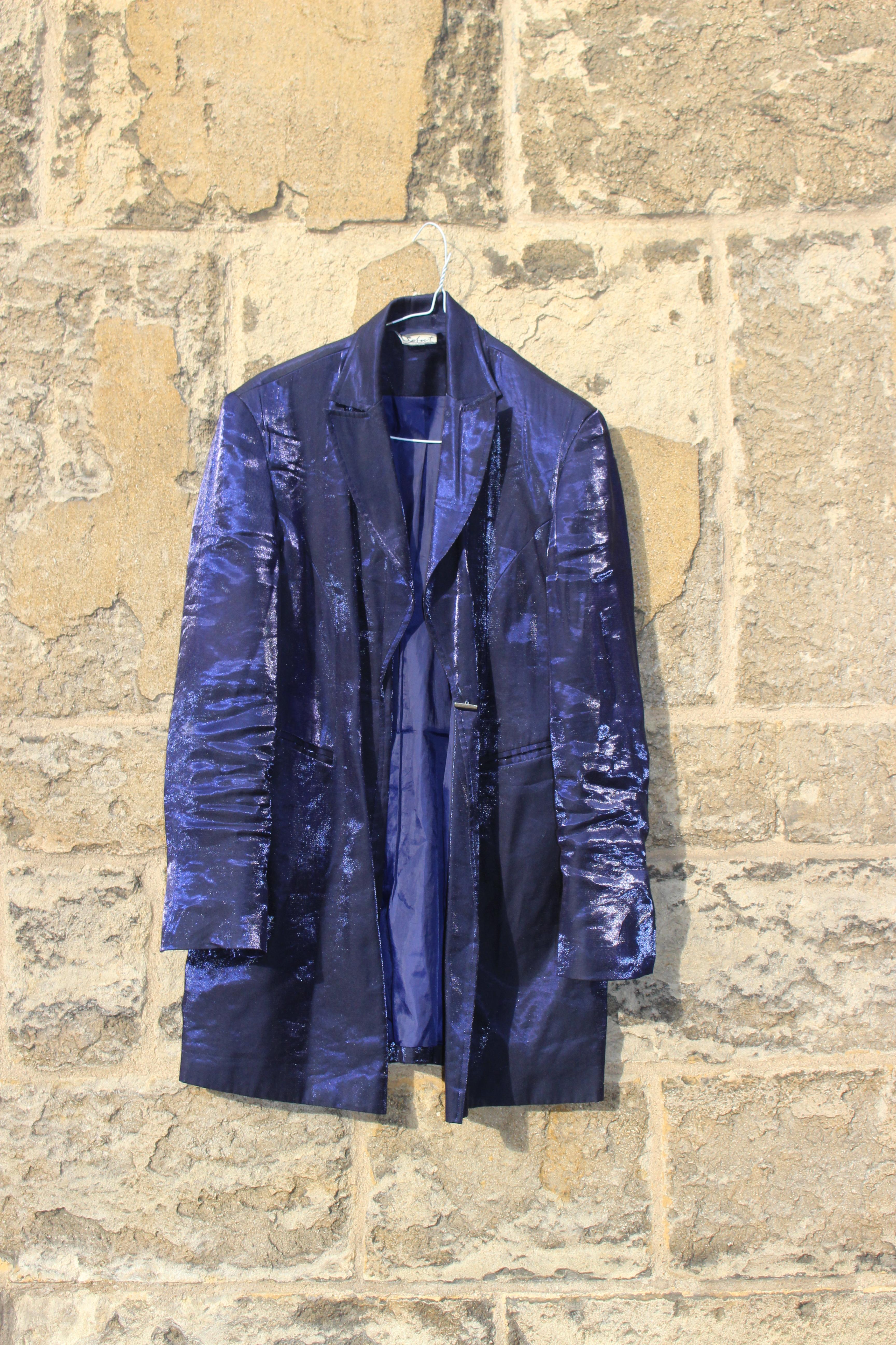 Select purple satin jacket, from Unicorn, 5 Ship Street, Oxford