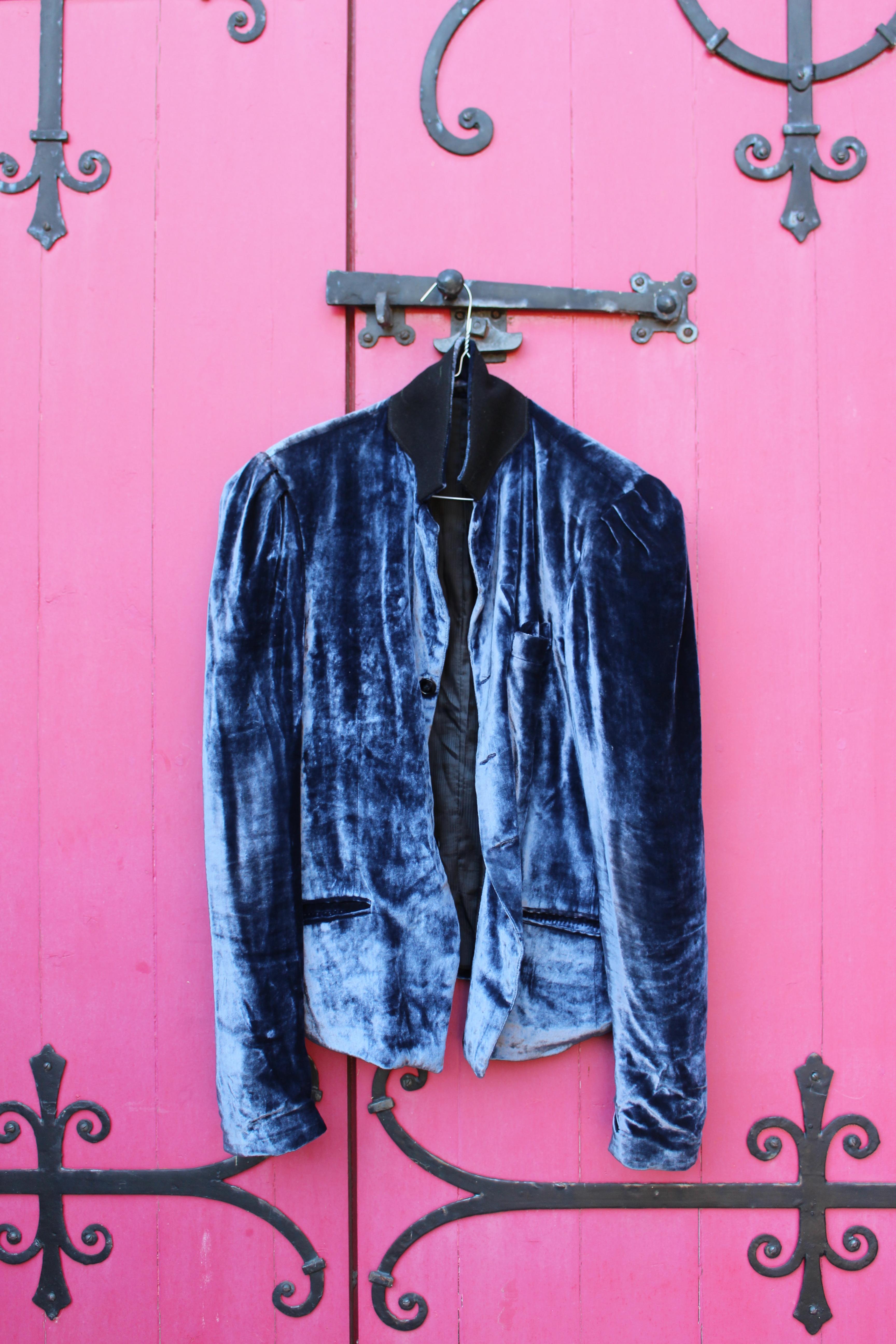 Silver silk velvet jacket, from Fez, 71 Golborne Road, London