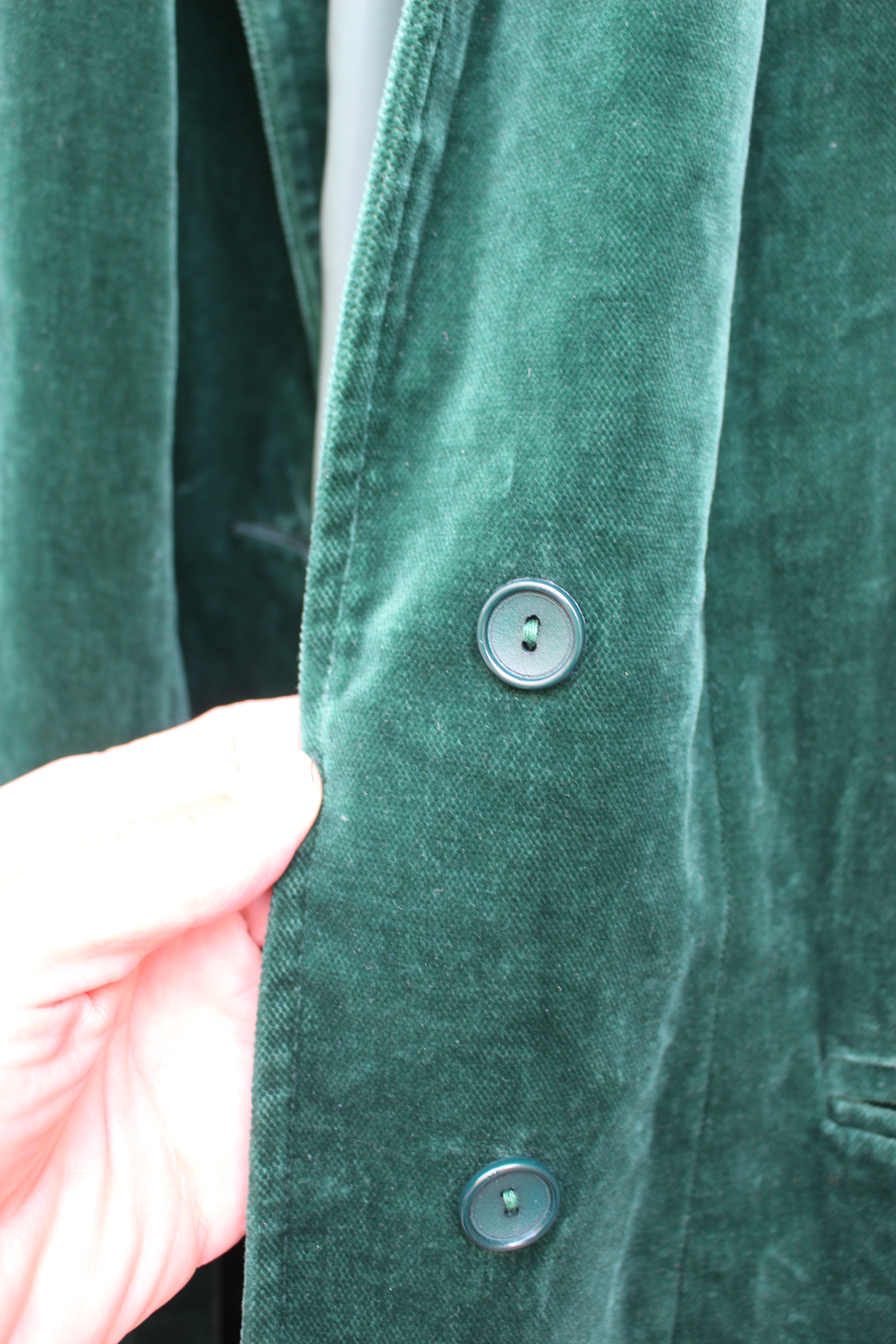 Soft green velvet jacket