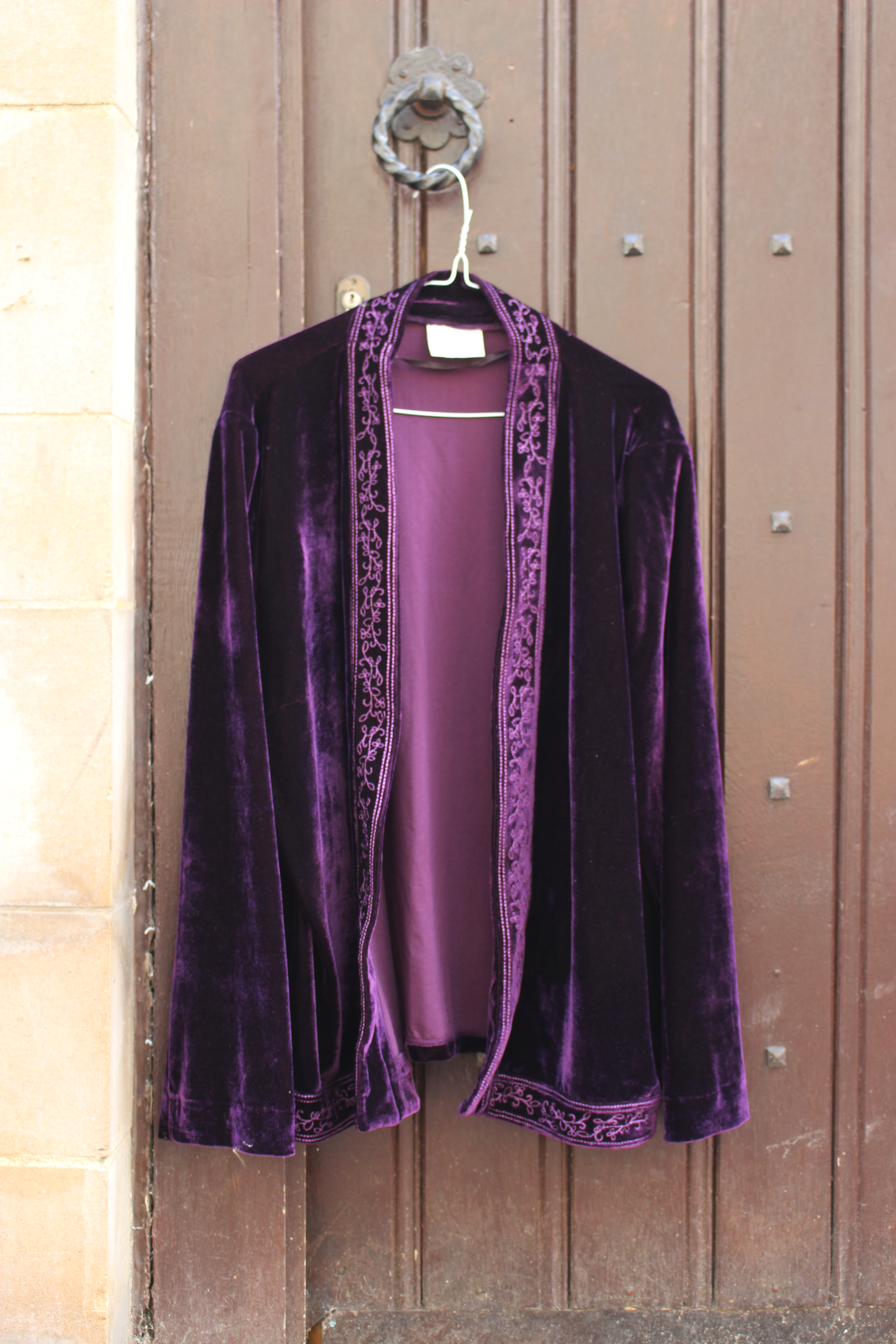 Style by EWM plum velvet jacket