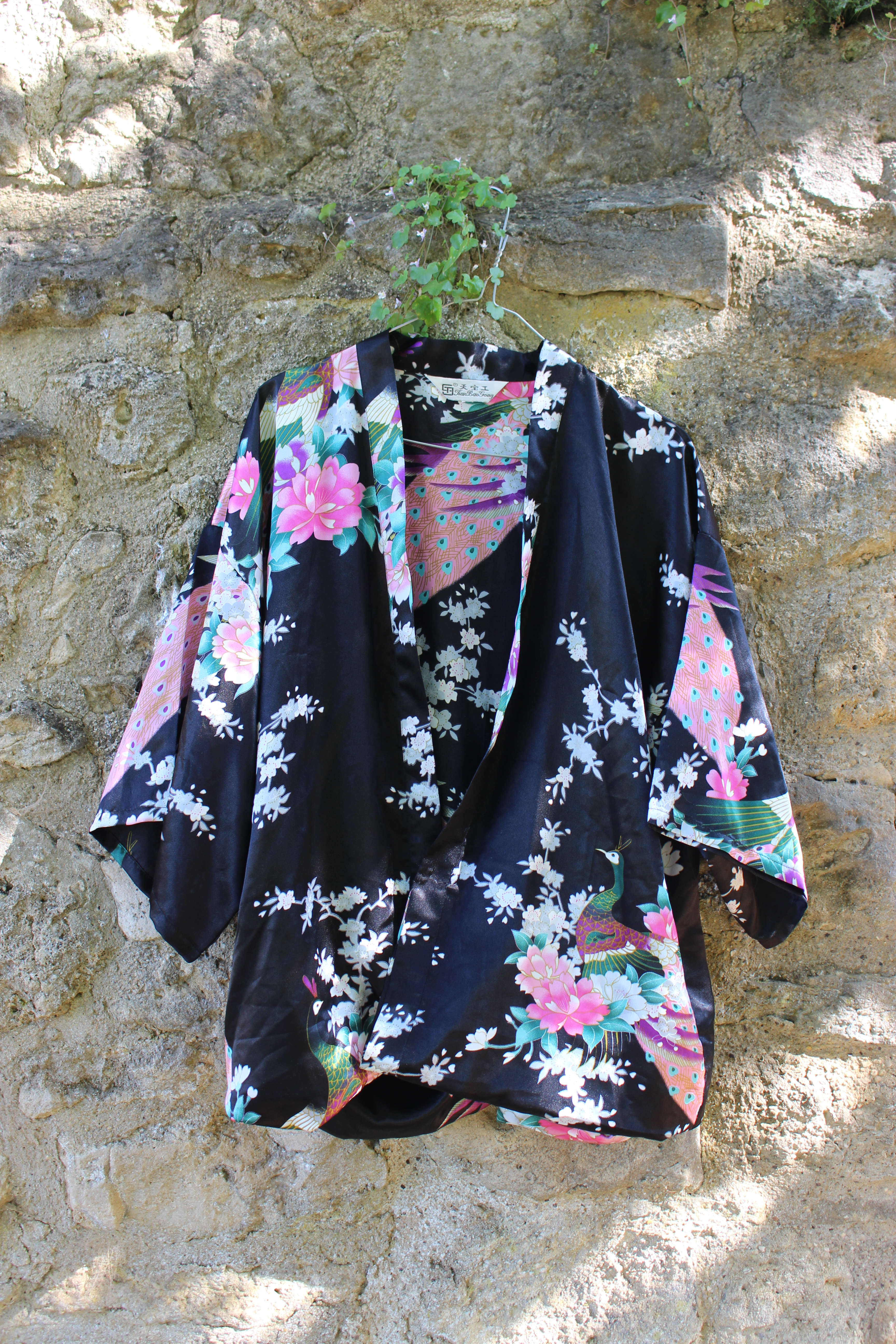 Tian bao gong black peacock kimono, from Unicorn, 5 Ship Street, Oxford