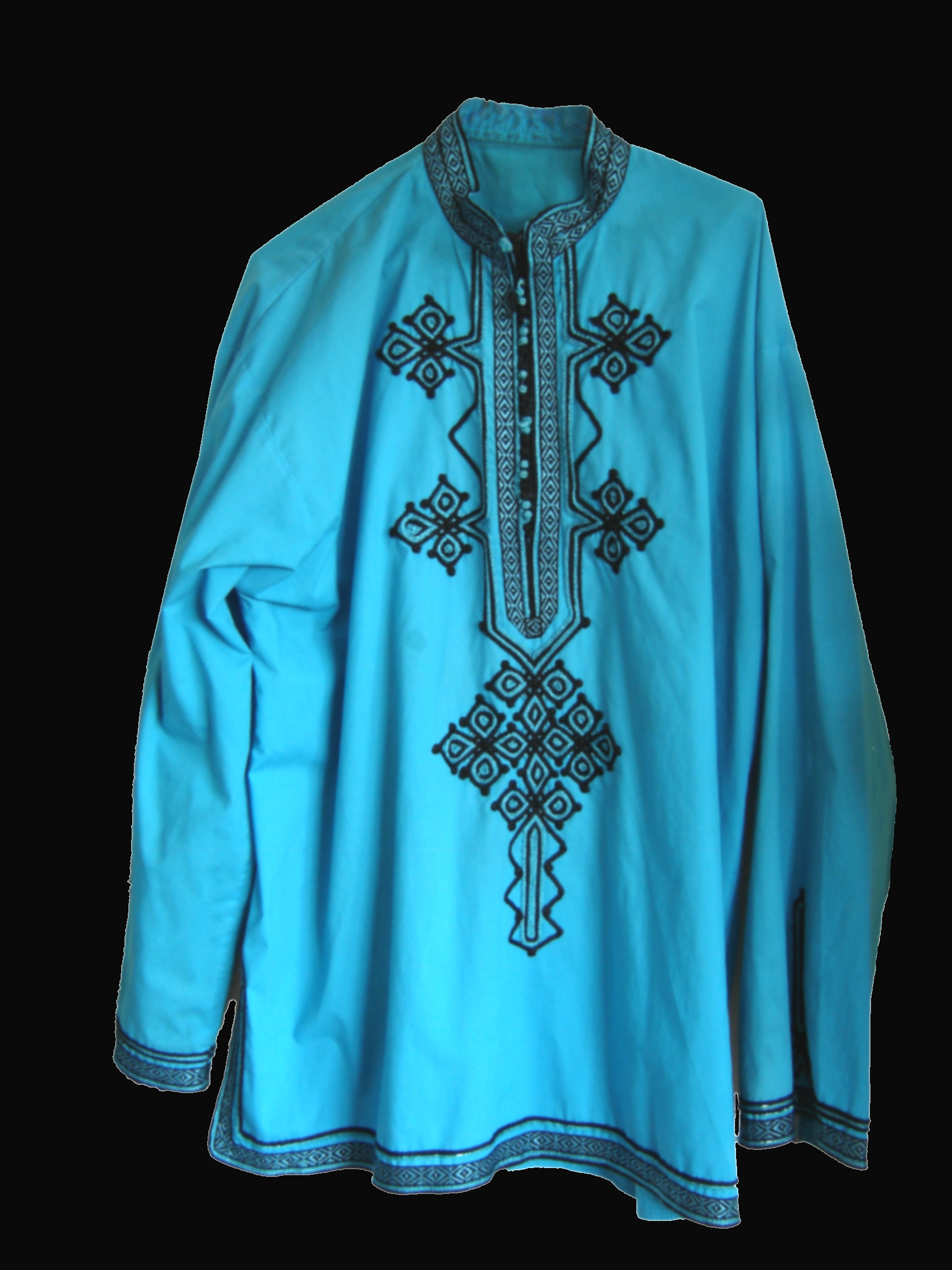 Turquoise Moroccan shirt