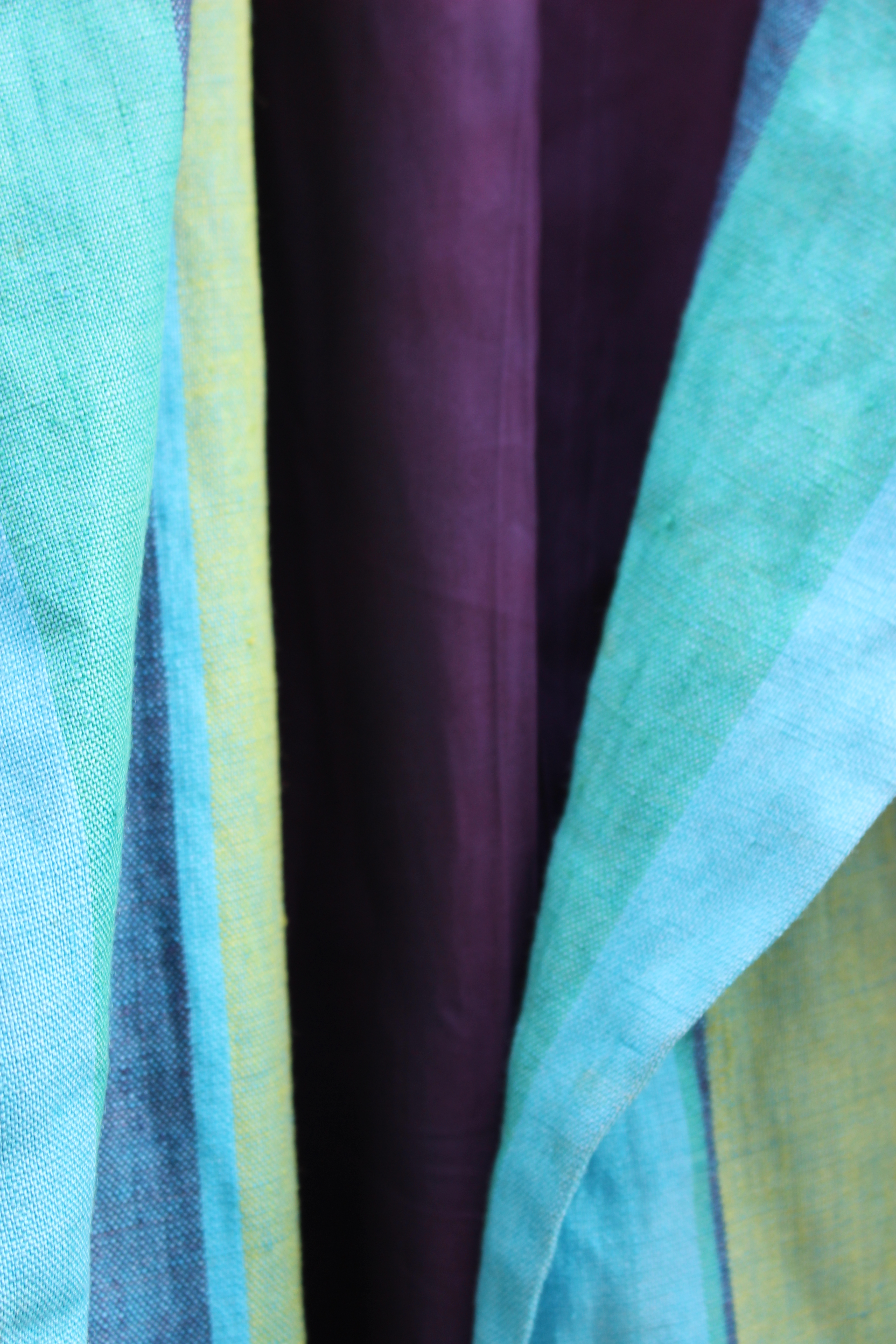 Wallis striped linen blazer, showing purple lining