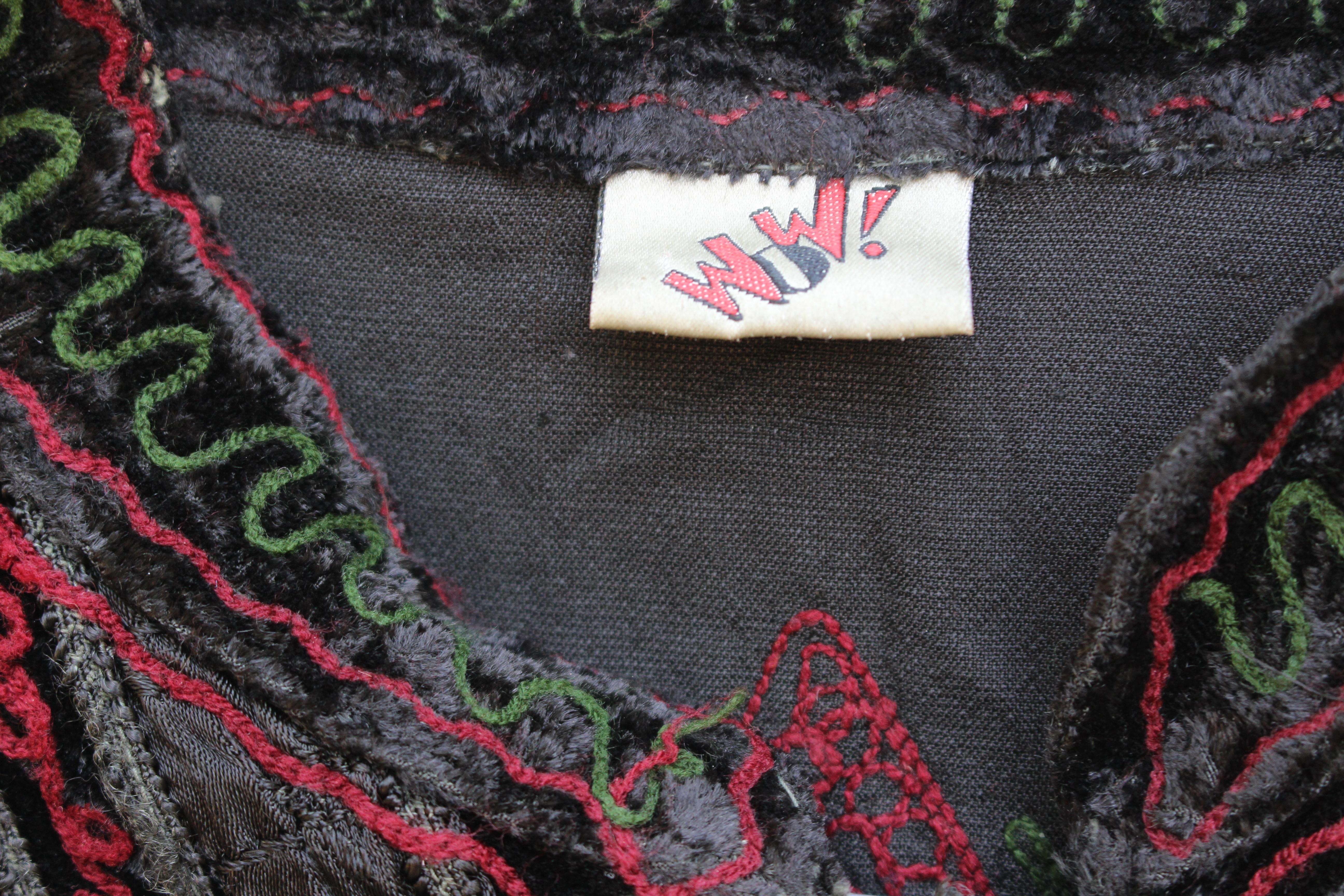 Wow embroidered velvet shirt, from Unicorn, 5 Ship Street, Oxford