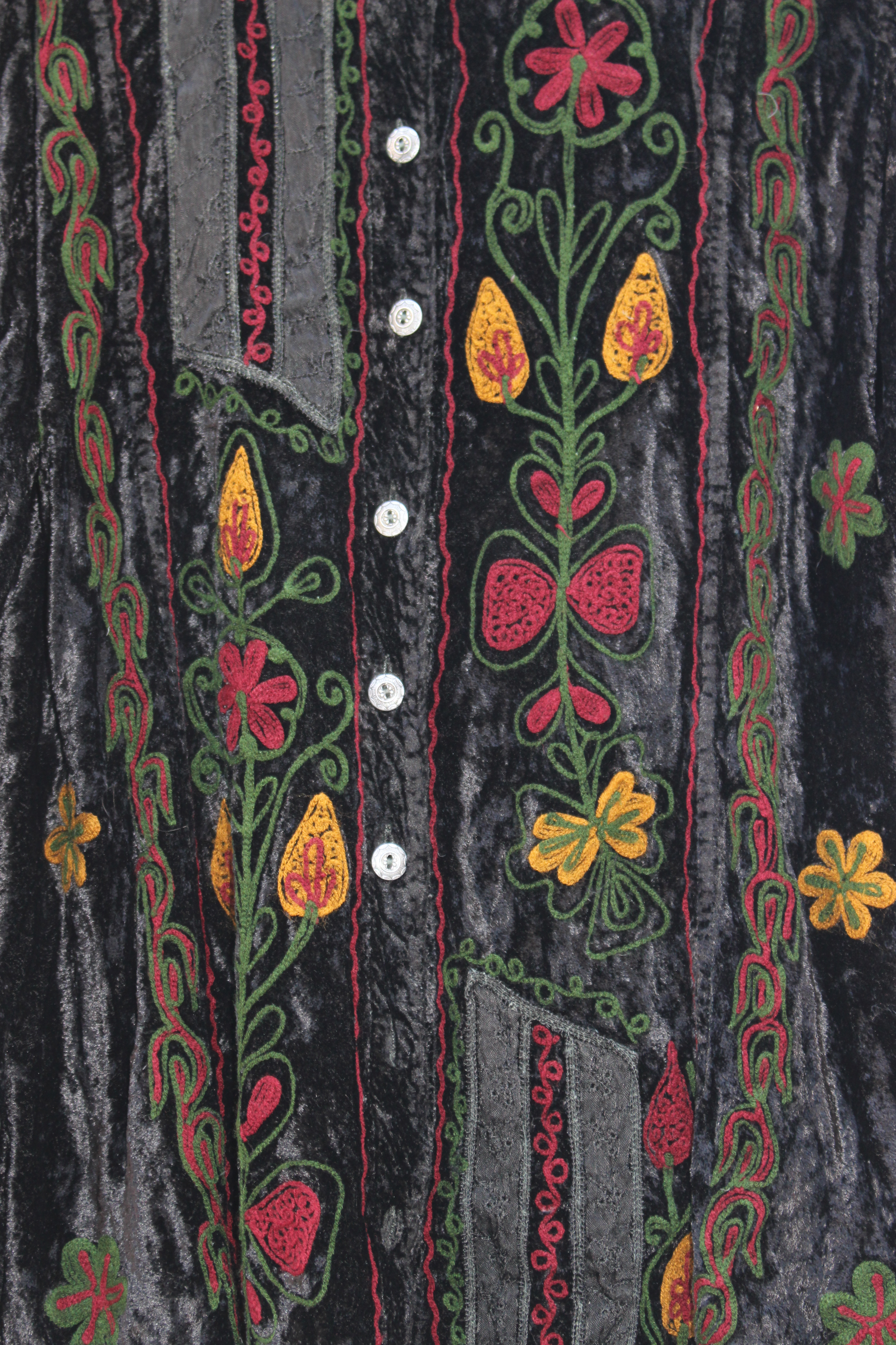Wow embroidered velvet shirt, from Unicorn, 5 Ship Street, Oxford