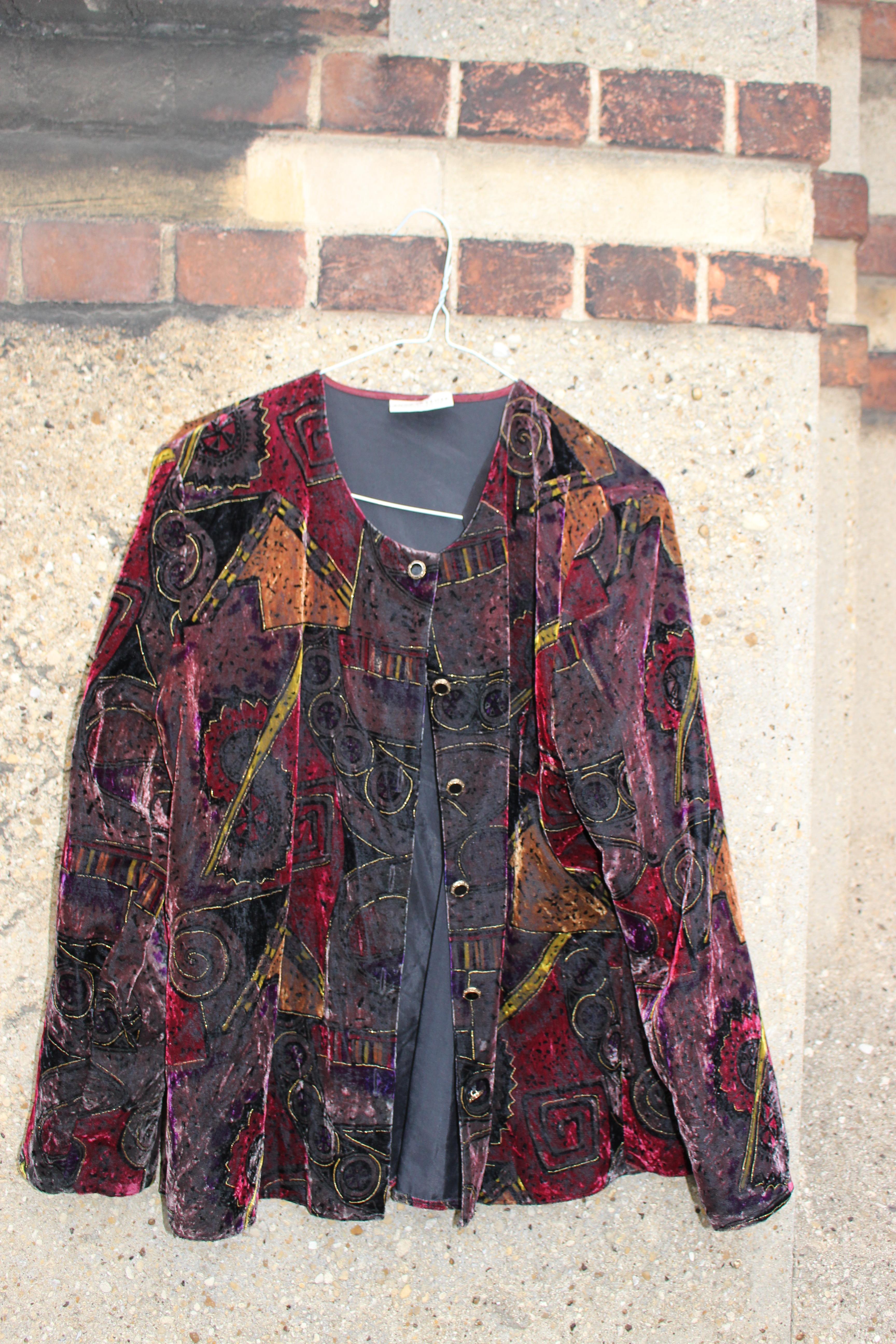 Your Sixth Sense cropped velvet jacket, from Unicorn, 5 Ship Street, Oxford