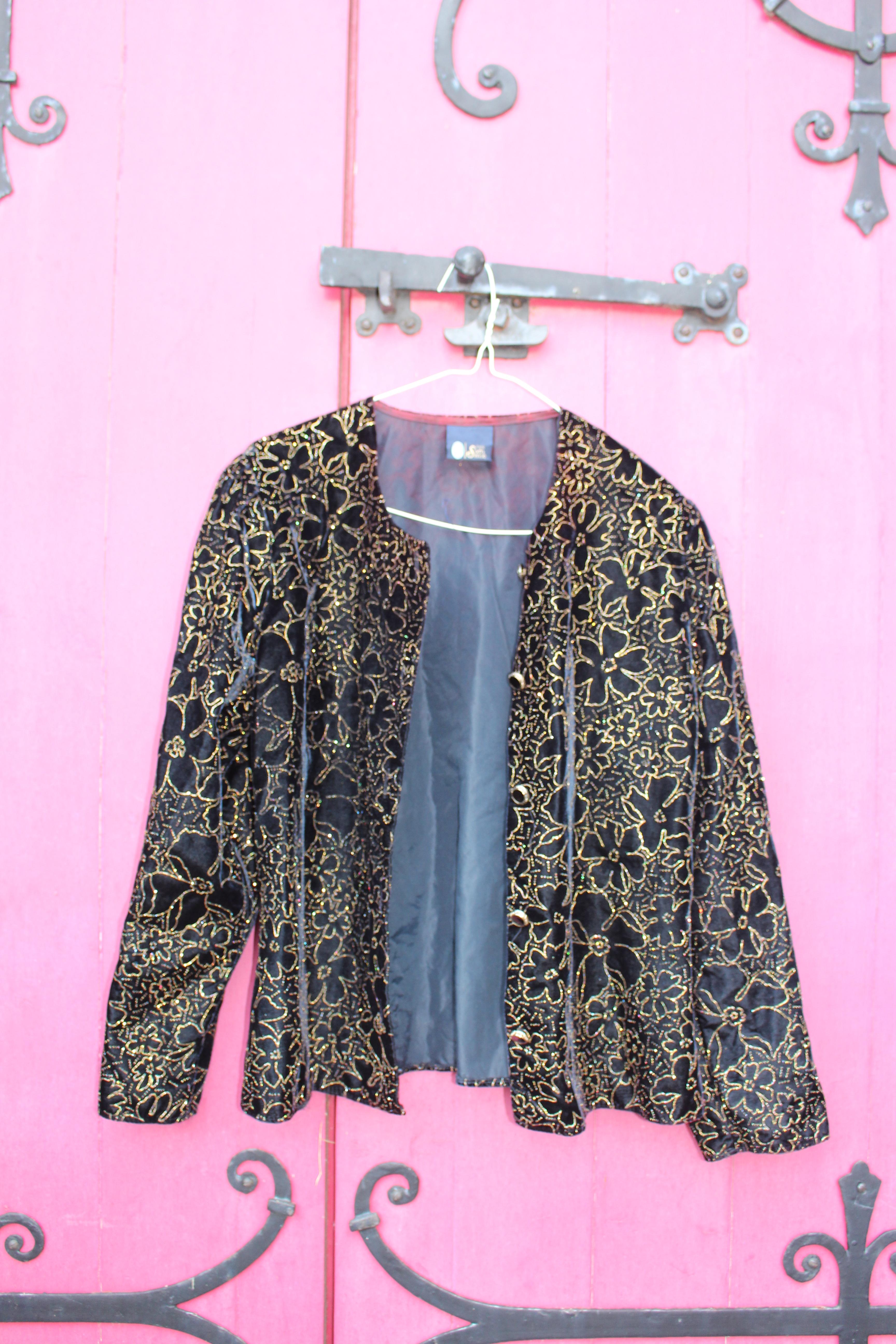 Your Sixth Sense glittery cropped velvet jacket, from Unicorn, 5 Ship Street, Oxford