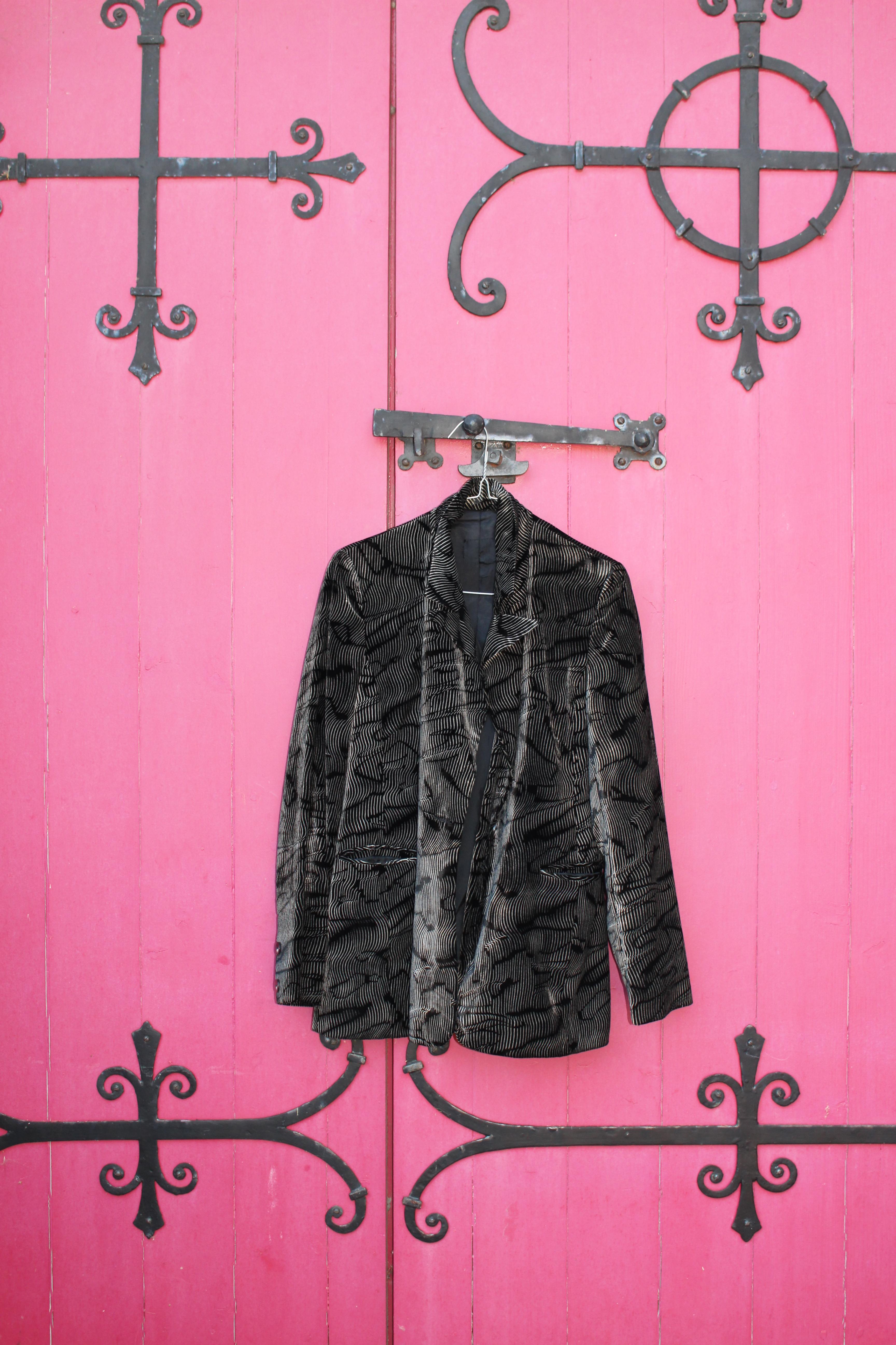 Zebra stripe velvet jacket, from Unicorn, 5 Ship Street, Oxford