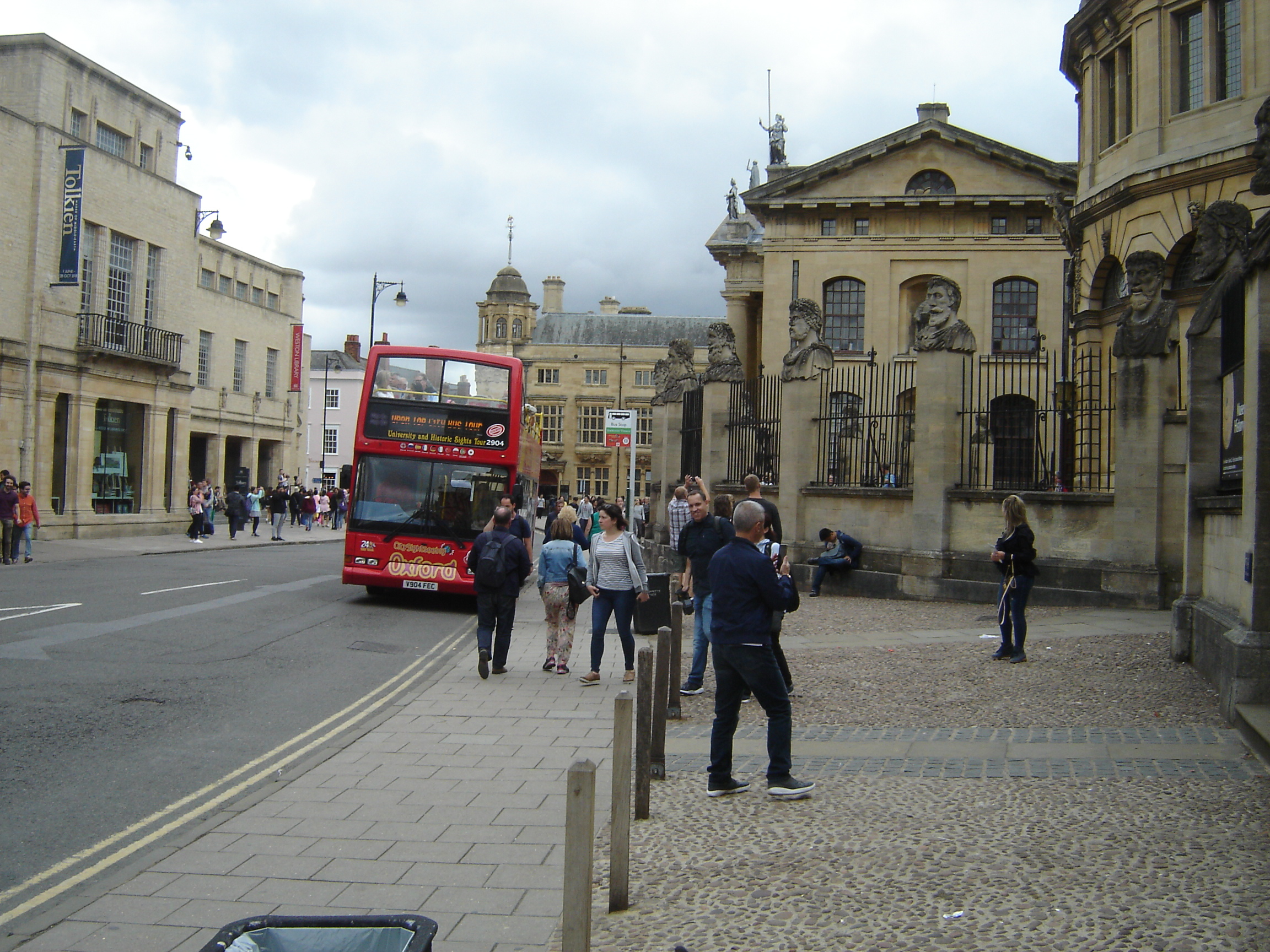 Drab people in Broad Street, Oxford
