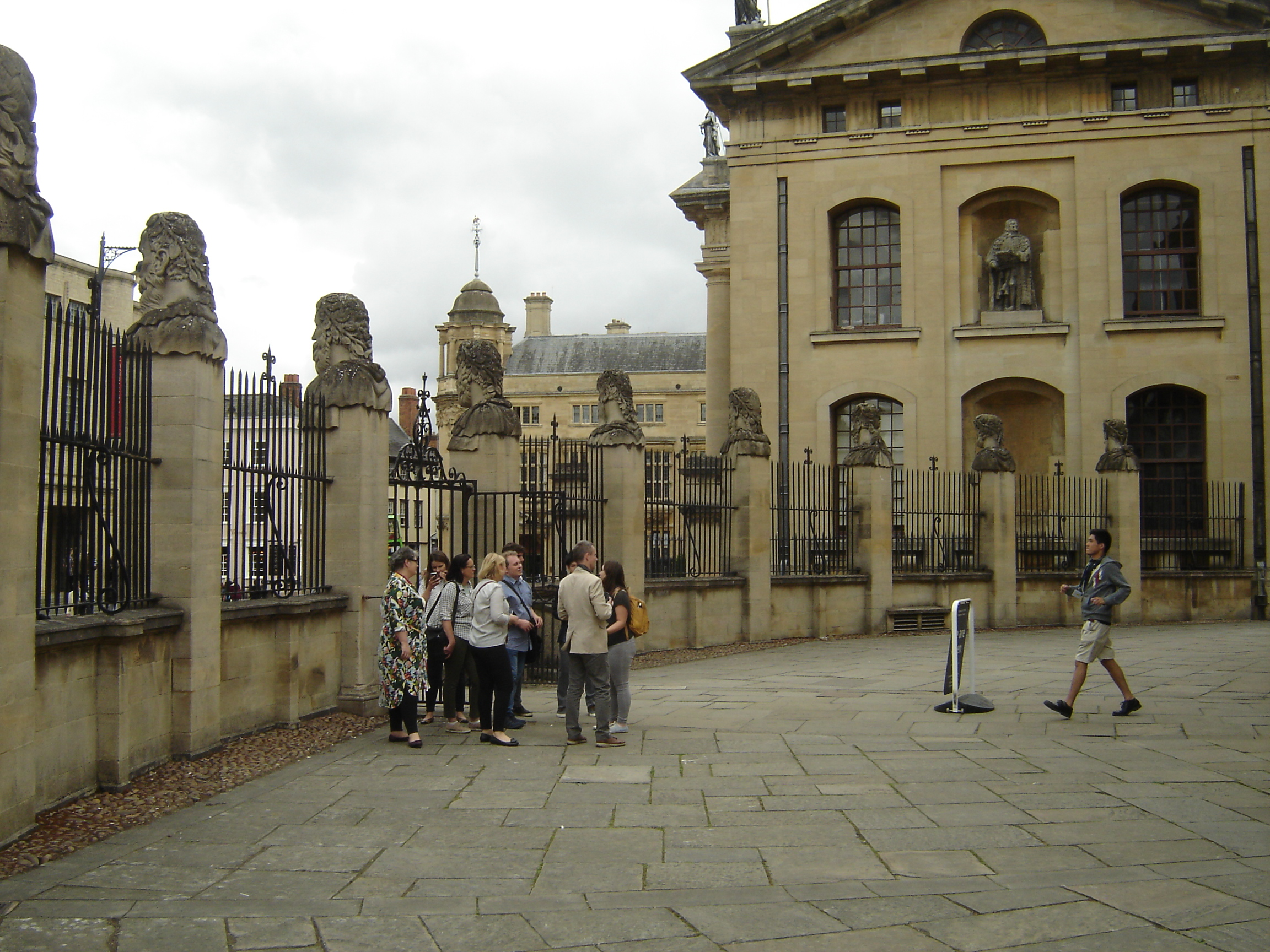 Drab people by Sheldonian, Oxford