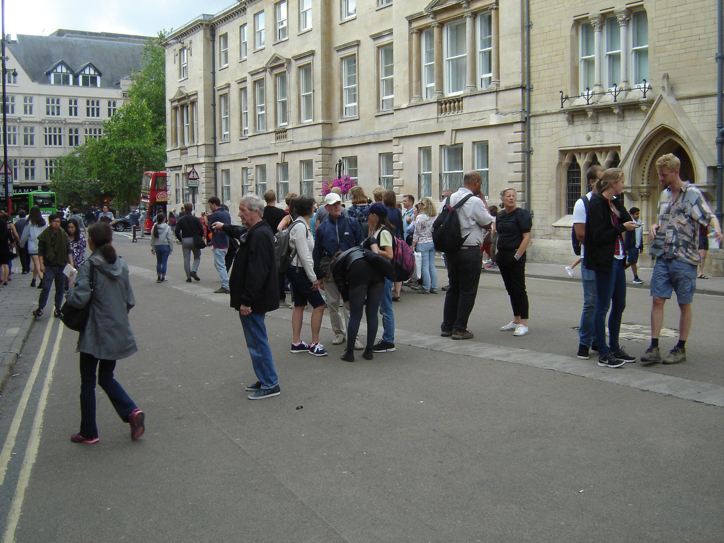 Drab people near Balliol, Oxford