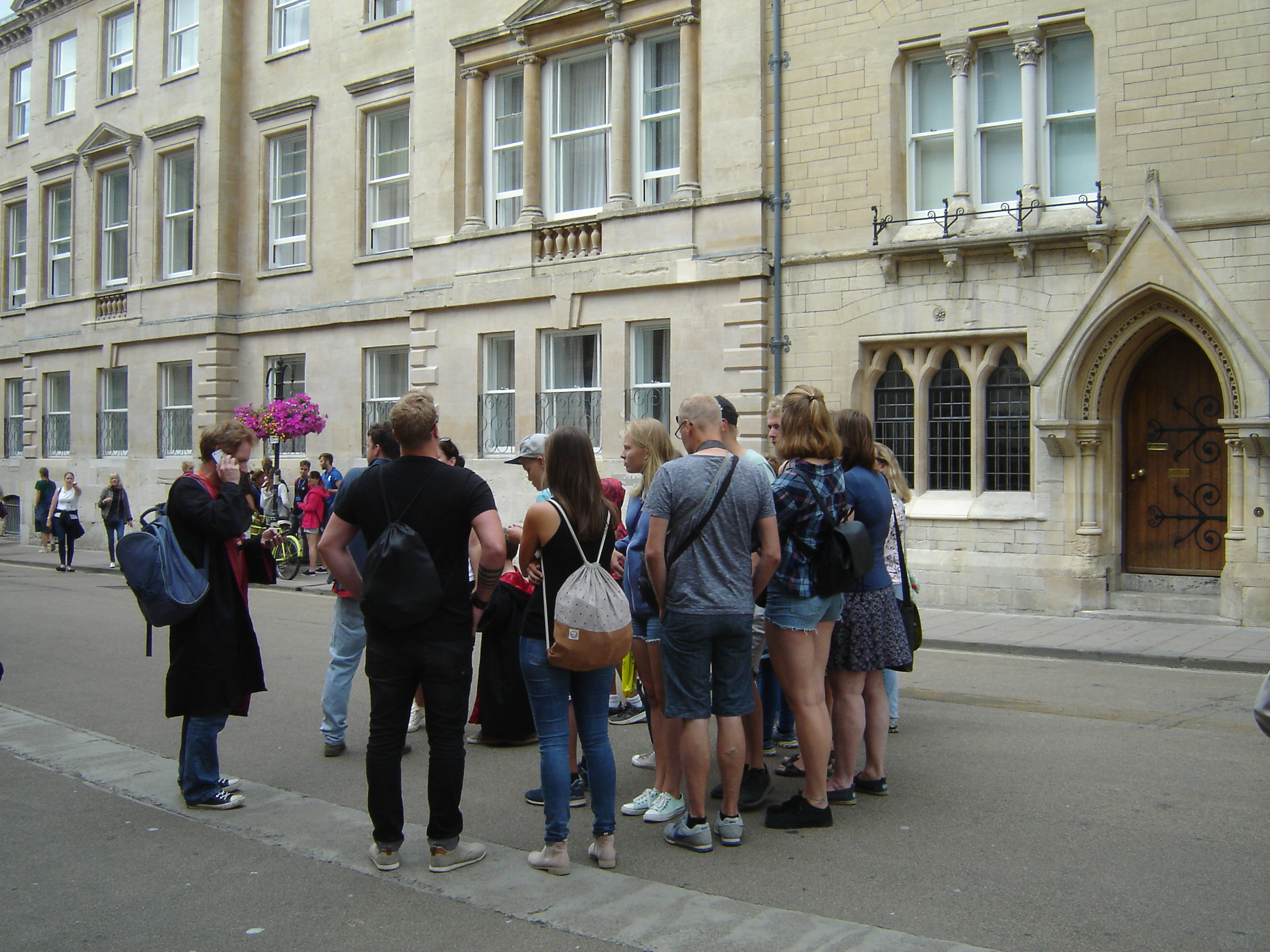 Drab people outside Balliol, Oxford