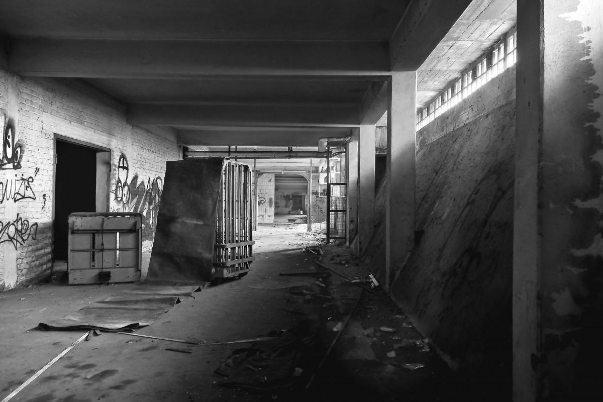 Dilapidated abandoned warehouse