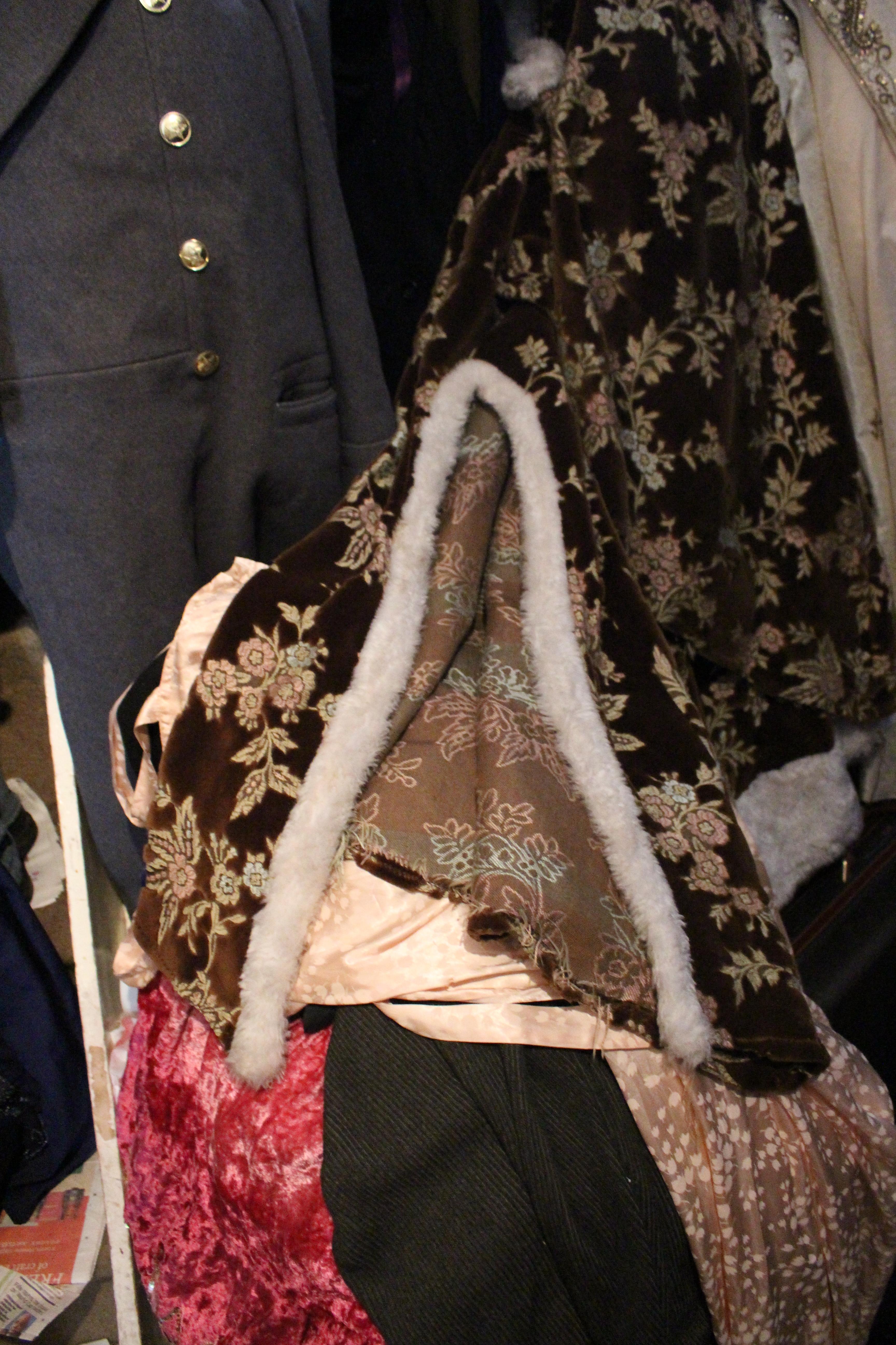 Glittery embroidered chocolate velvet coat, in Unicorn, 5 Ship Street, Oxford