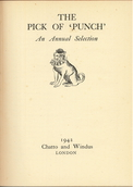 Title page of the Pick of Punch for 1942